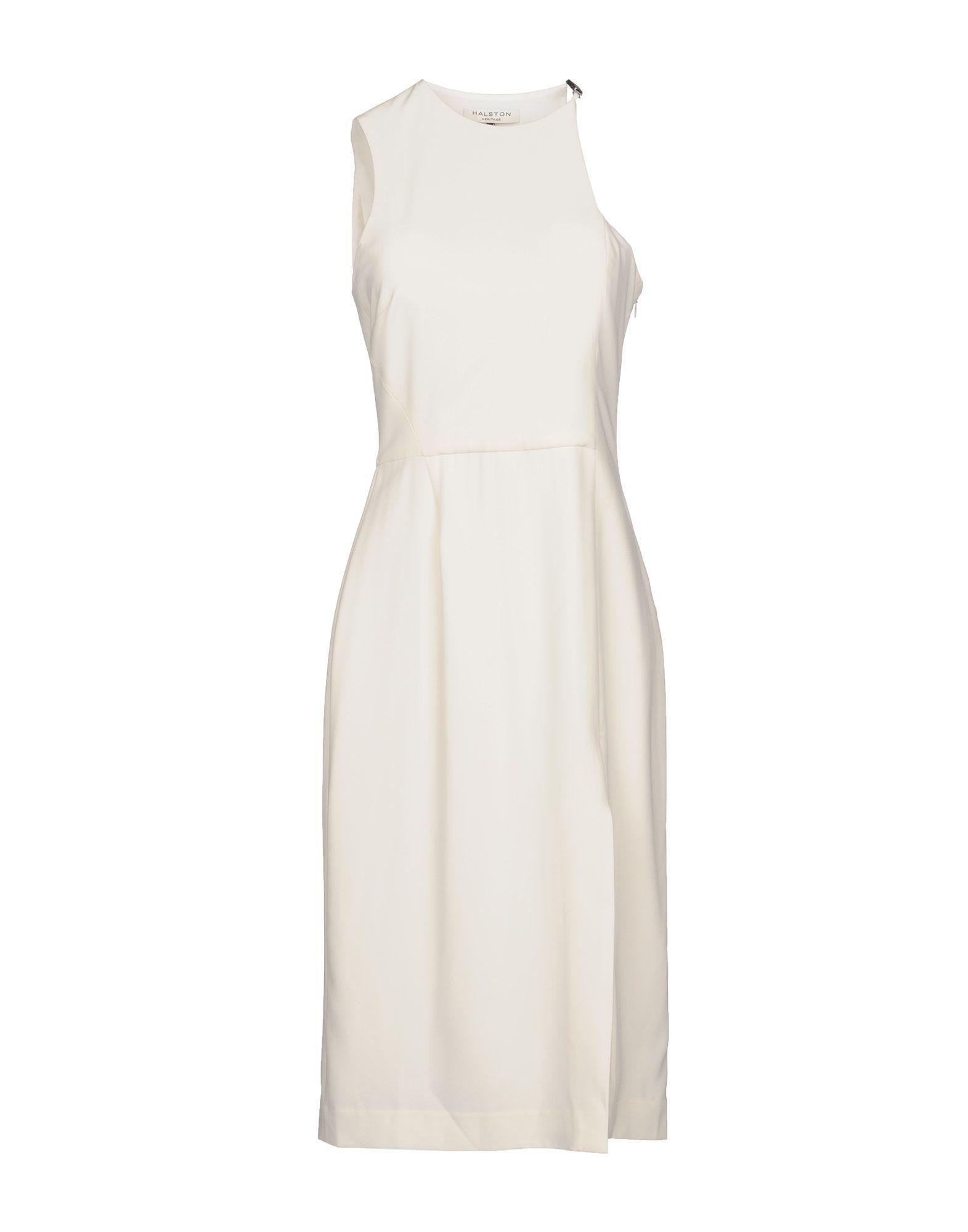 Halston Heritage Short Dress In Ivory
