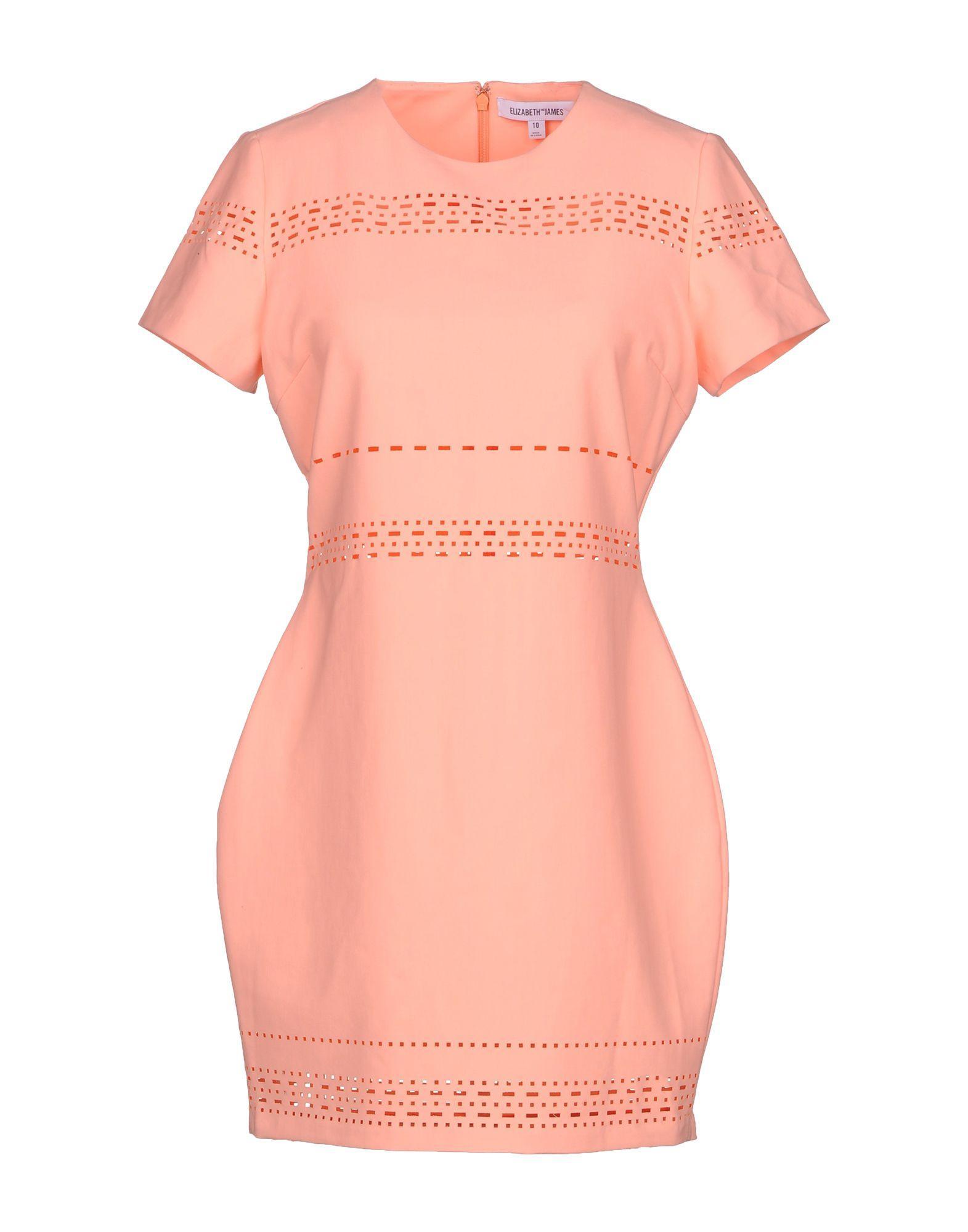 Elizabeth And James Short Dress In Salmon Pink