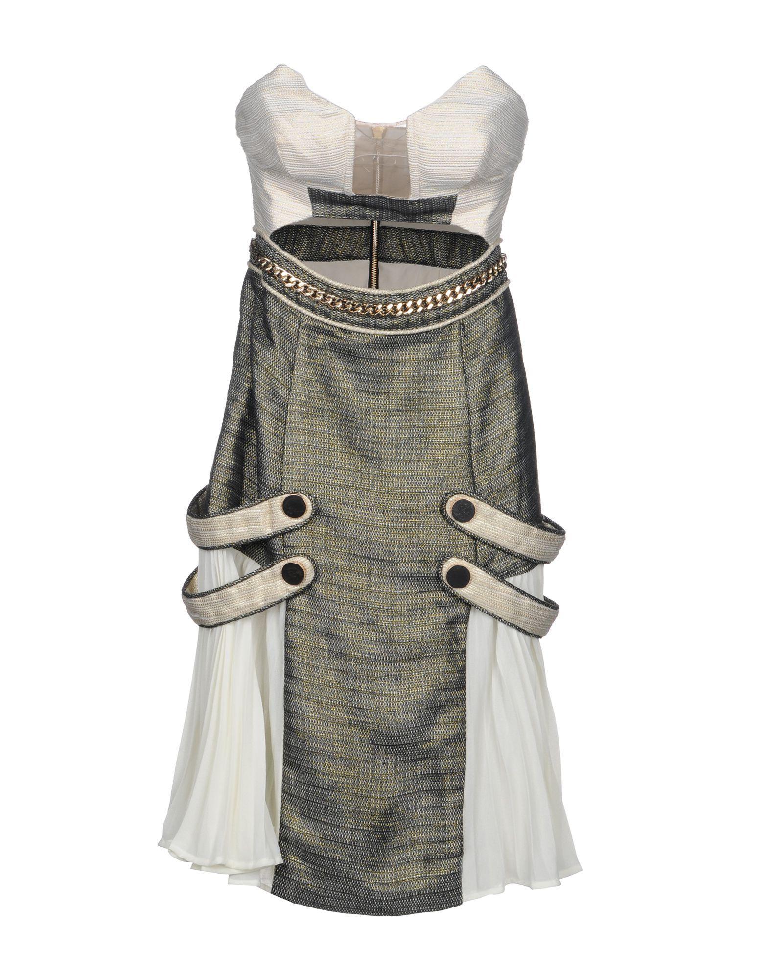 Self-portrait Short Dresses In Ivory