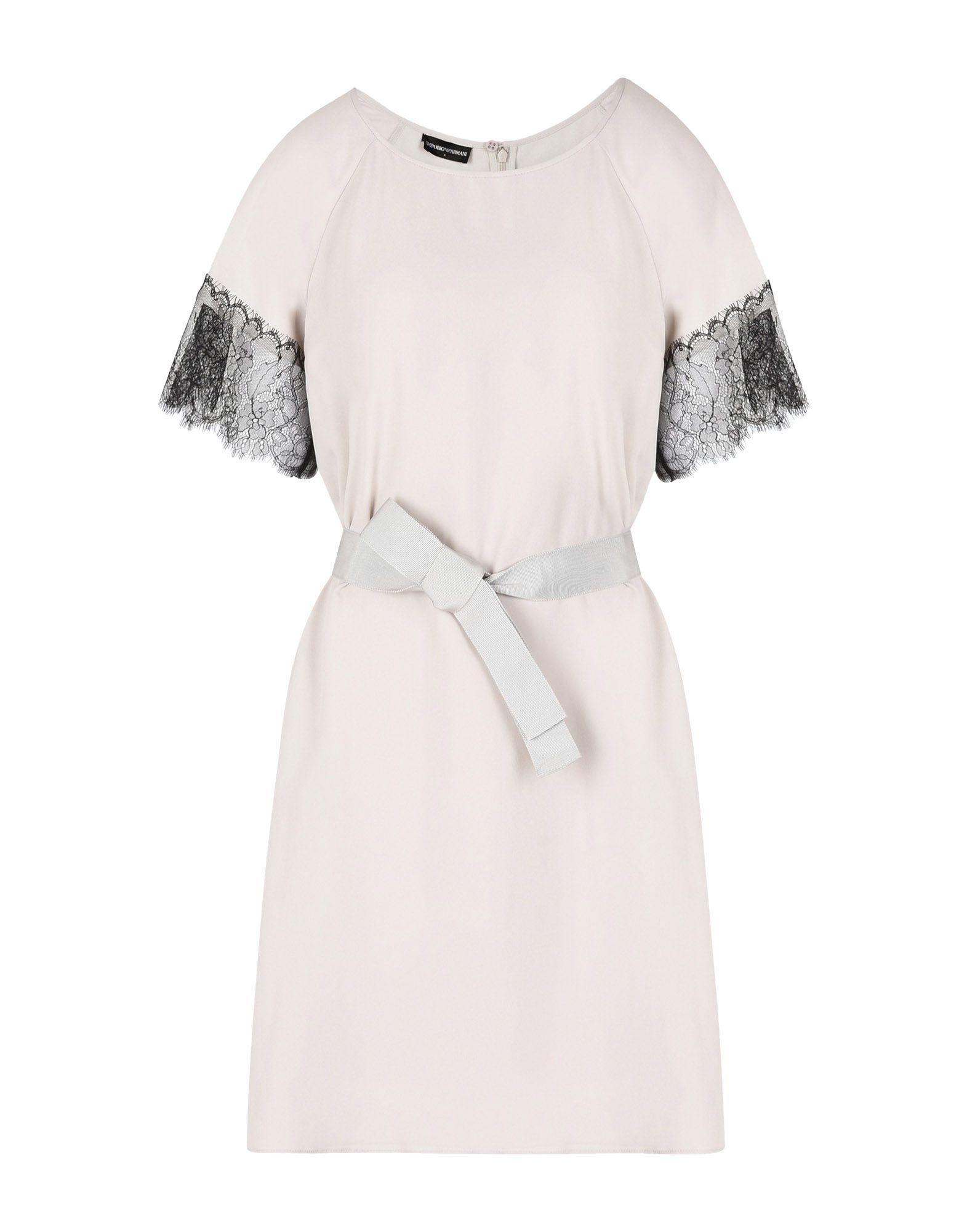 Emporio Armani Short Dress In Light Grey