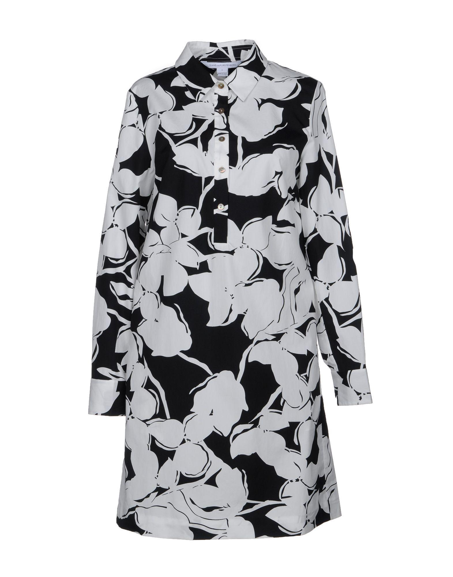 Diane Von Furstenberg Short Dresses In White