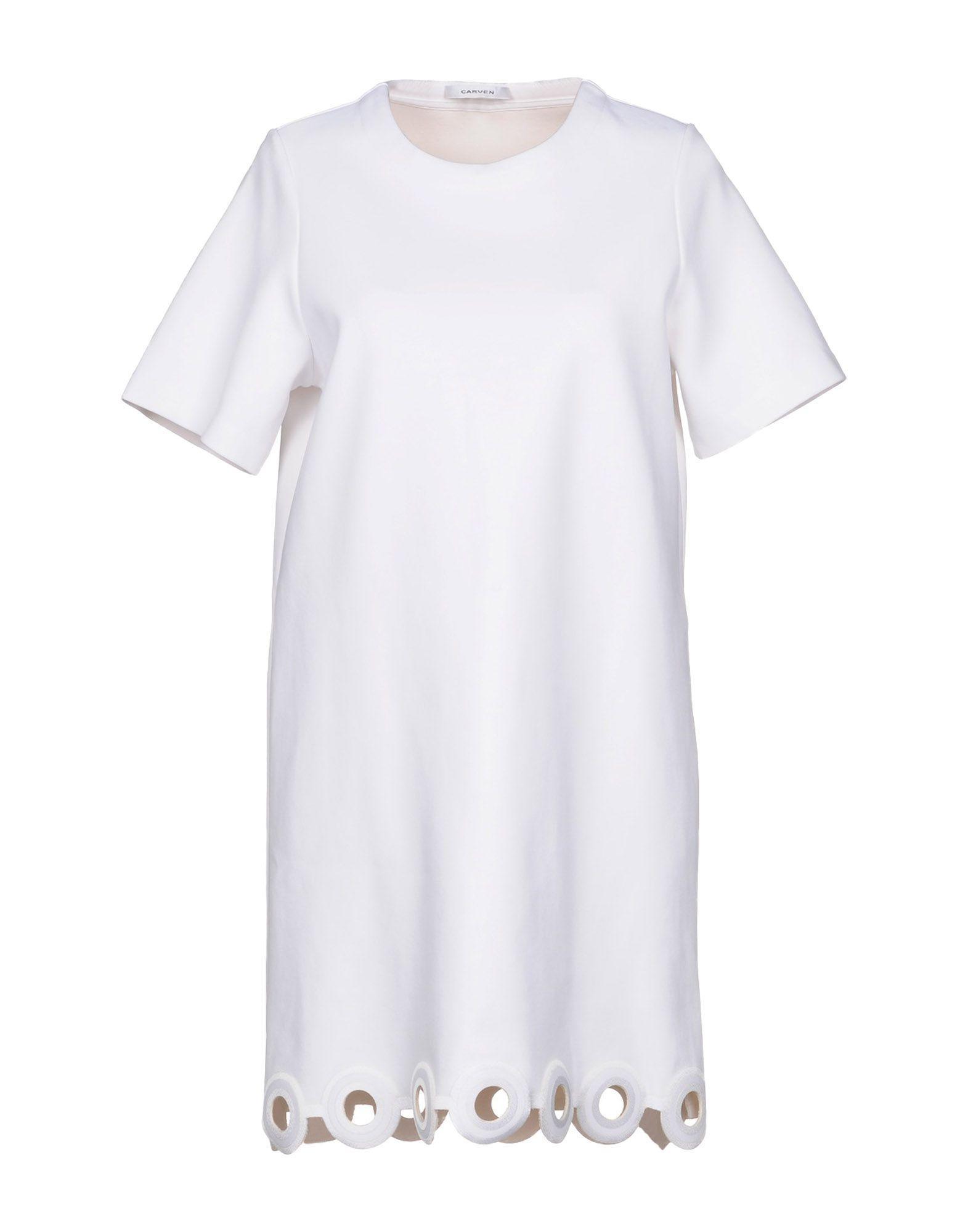 Carven Short Dress In White