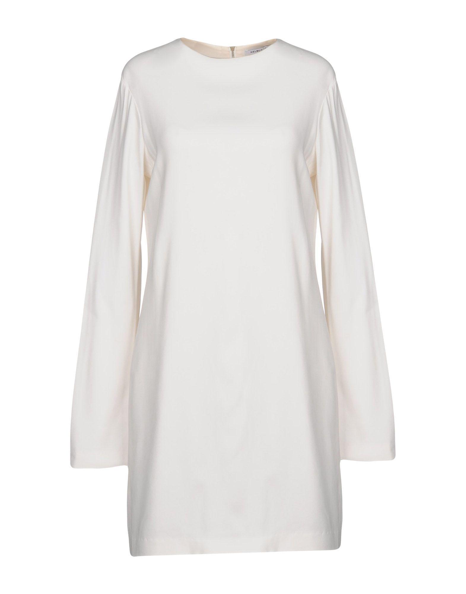 Helmut Lang Short Dresses In White