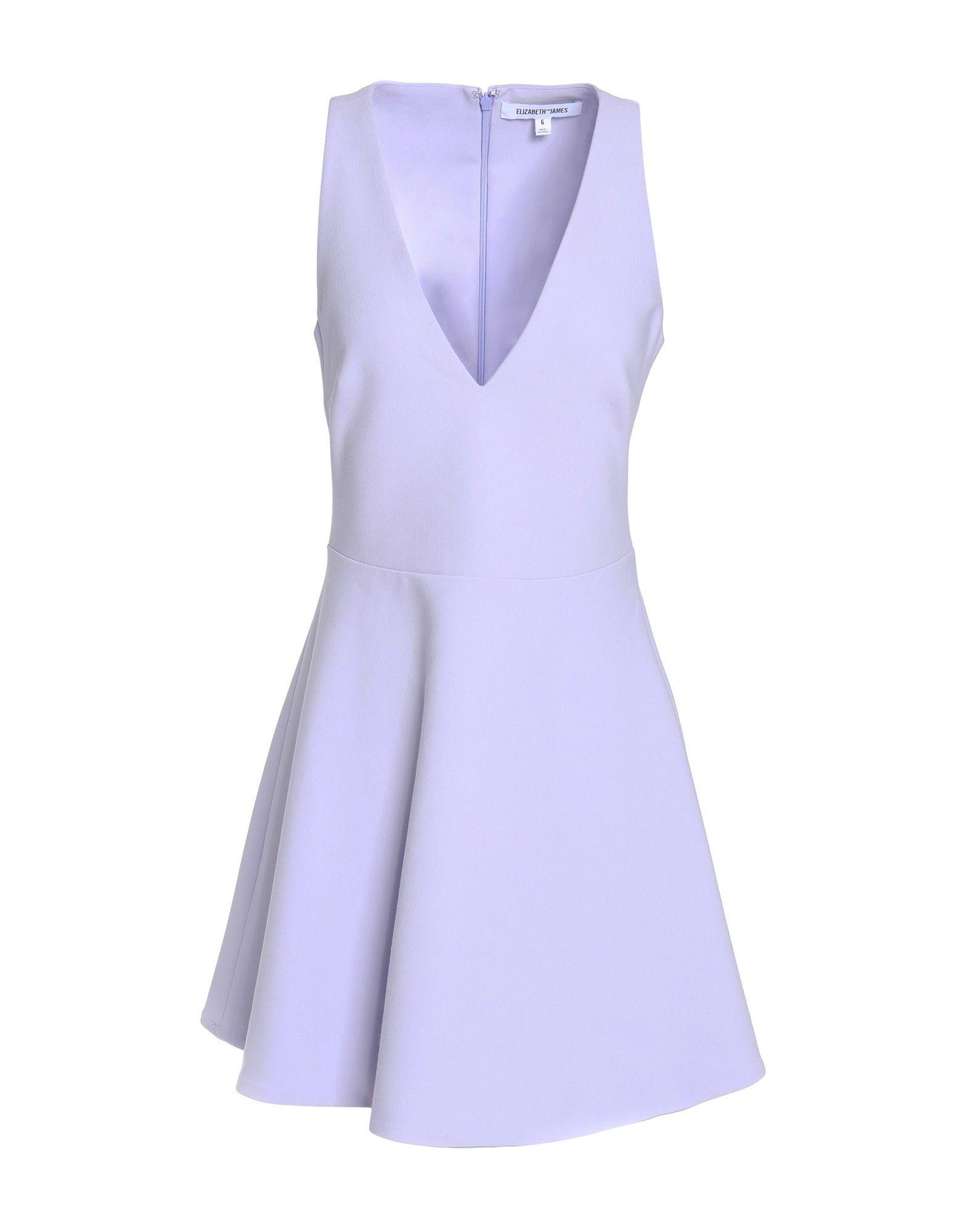 Elizabeth And James Short Dress In Lilac