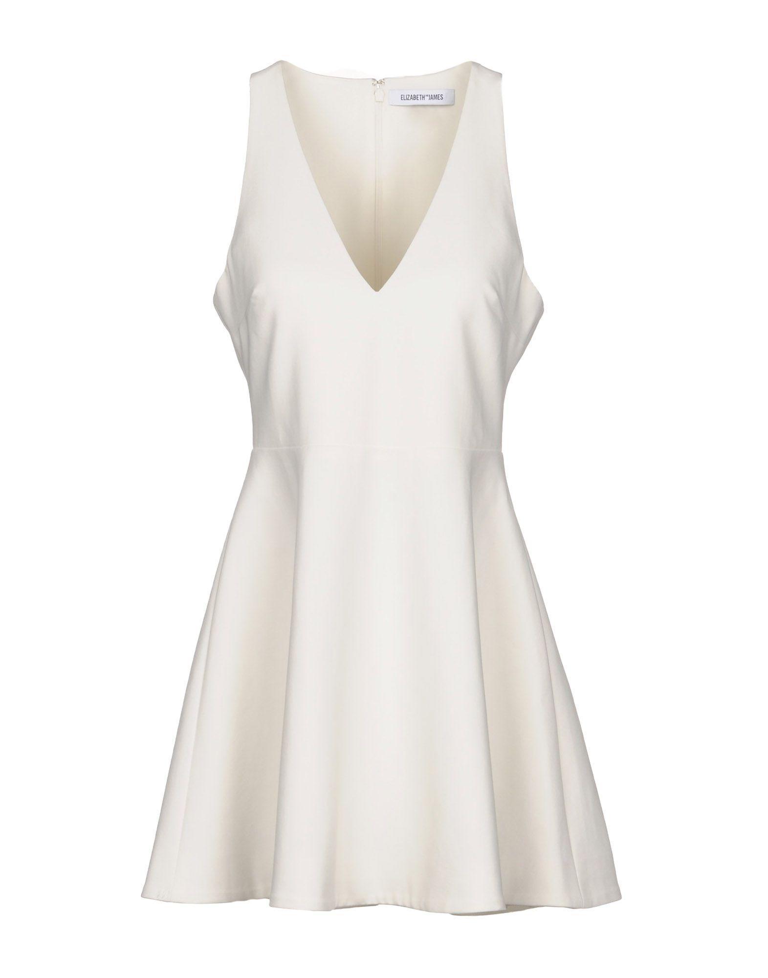 Elizabeth And James Short Dresses In White