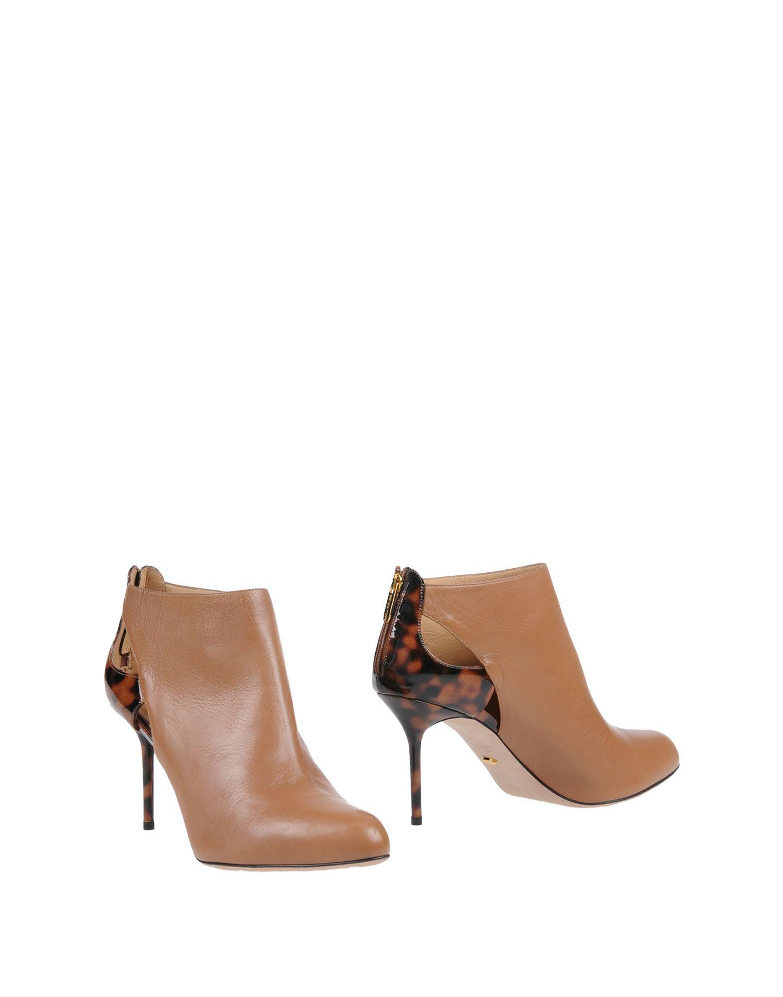 Sergio Rossi Ankle Boots In Camel