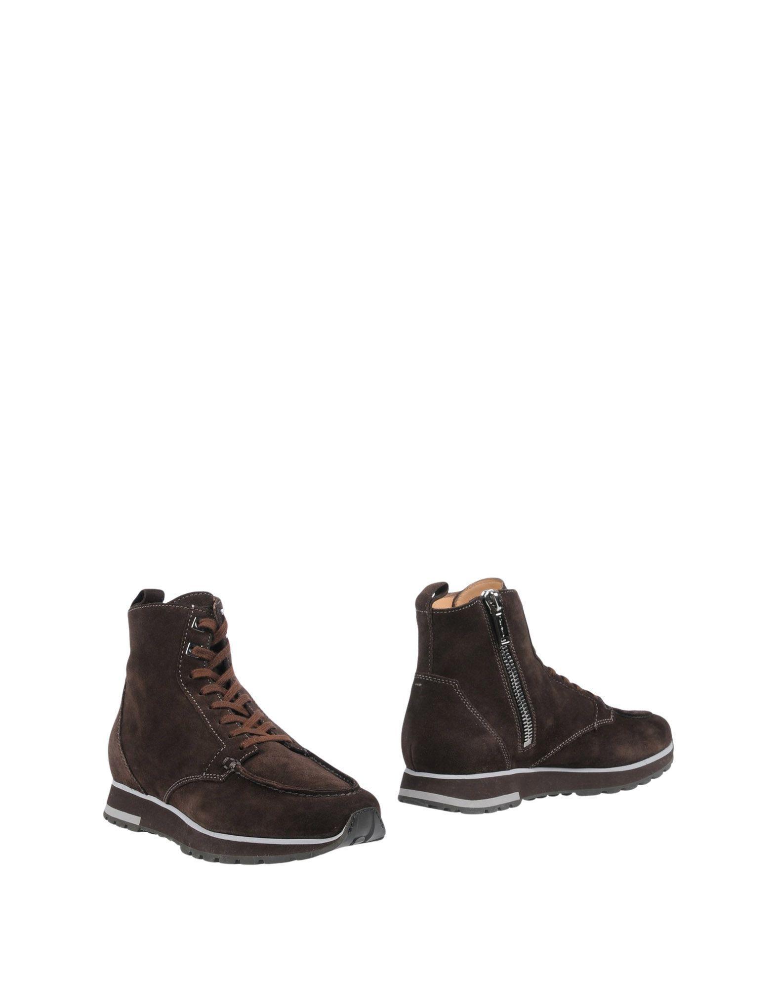 Santoni Ankle Boots In Dark Brown