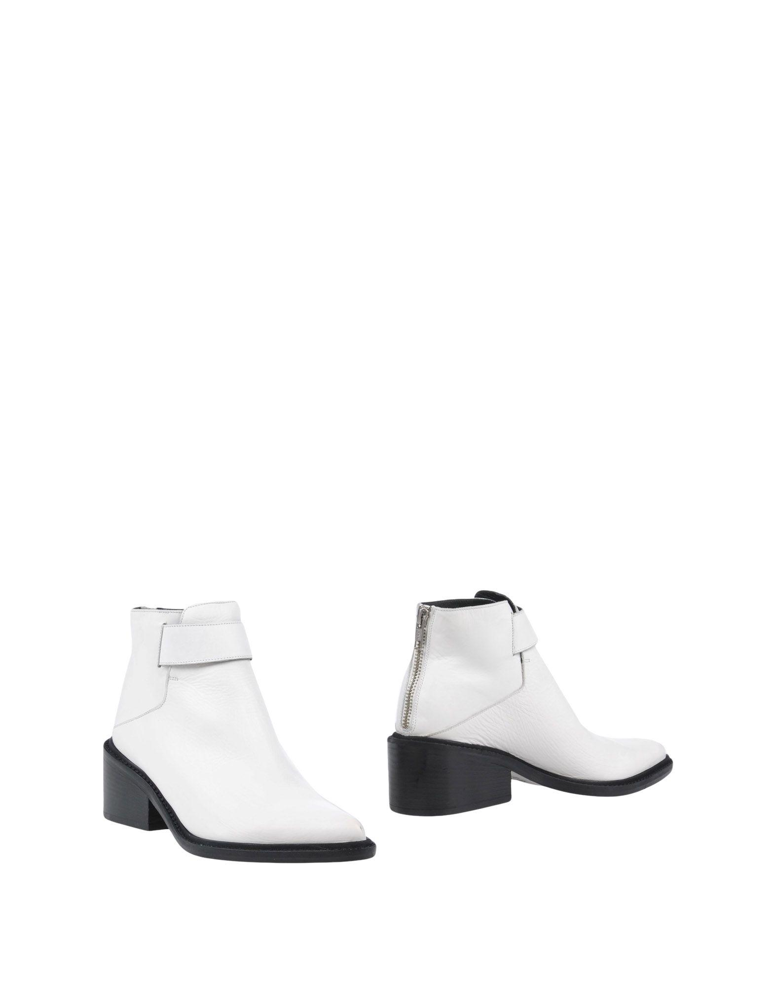 Helmut Lang Ankle Boots In White