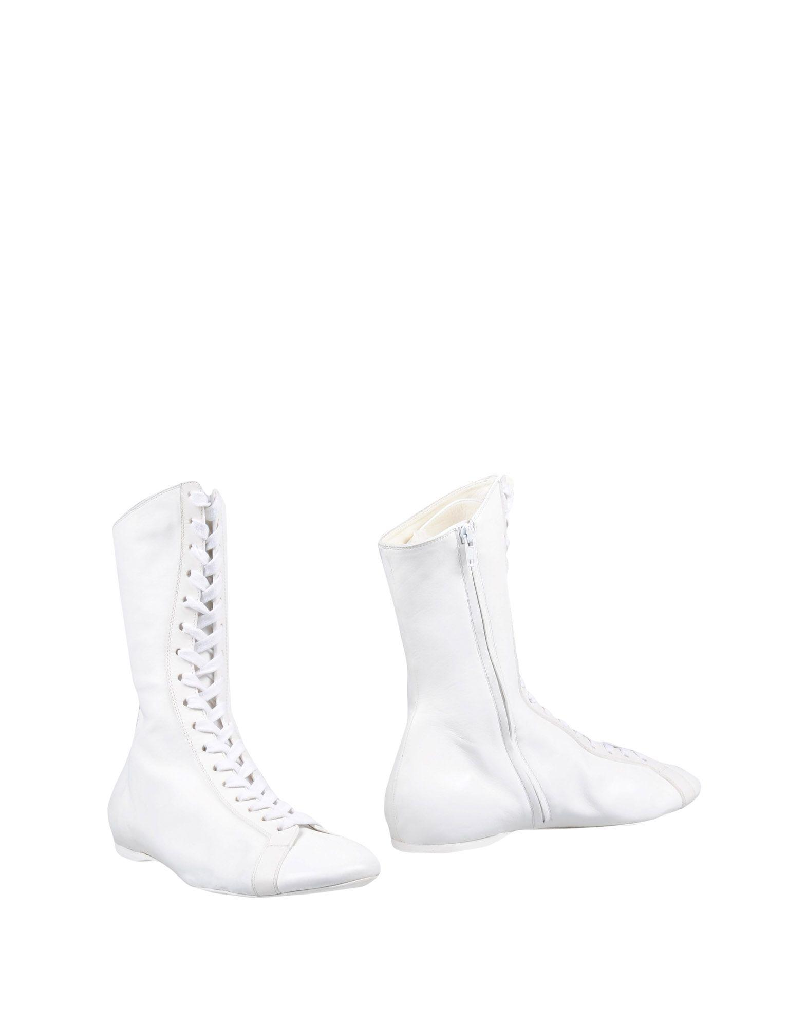 Rochas Ankle Boots In White