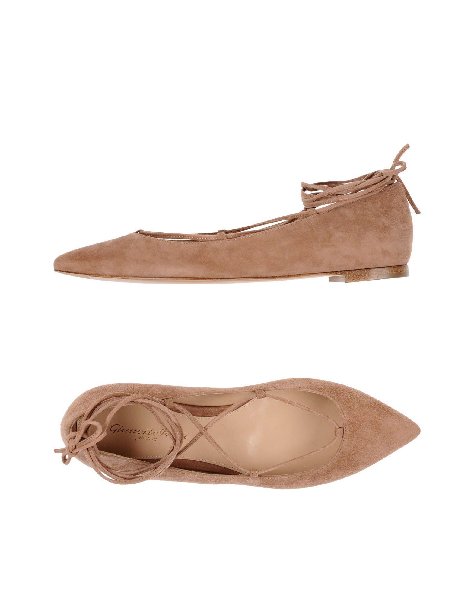 Gianvito Rossi Ballet Flats In Pale Pink