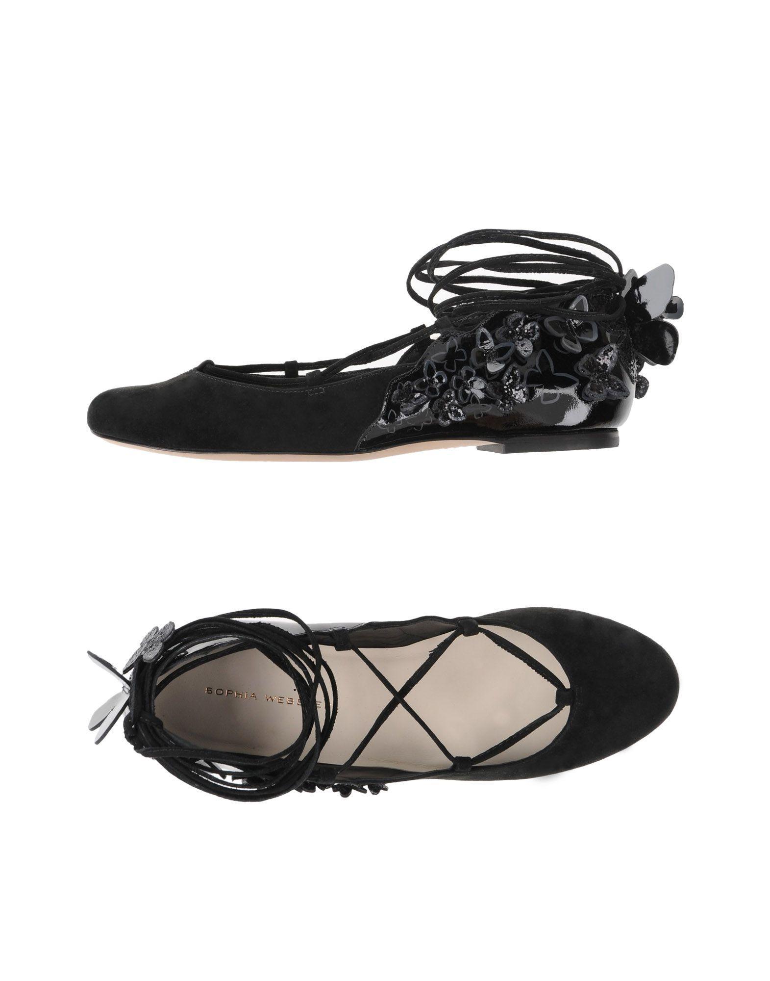 Sophia Webster Ballet Flats In Black