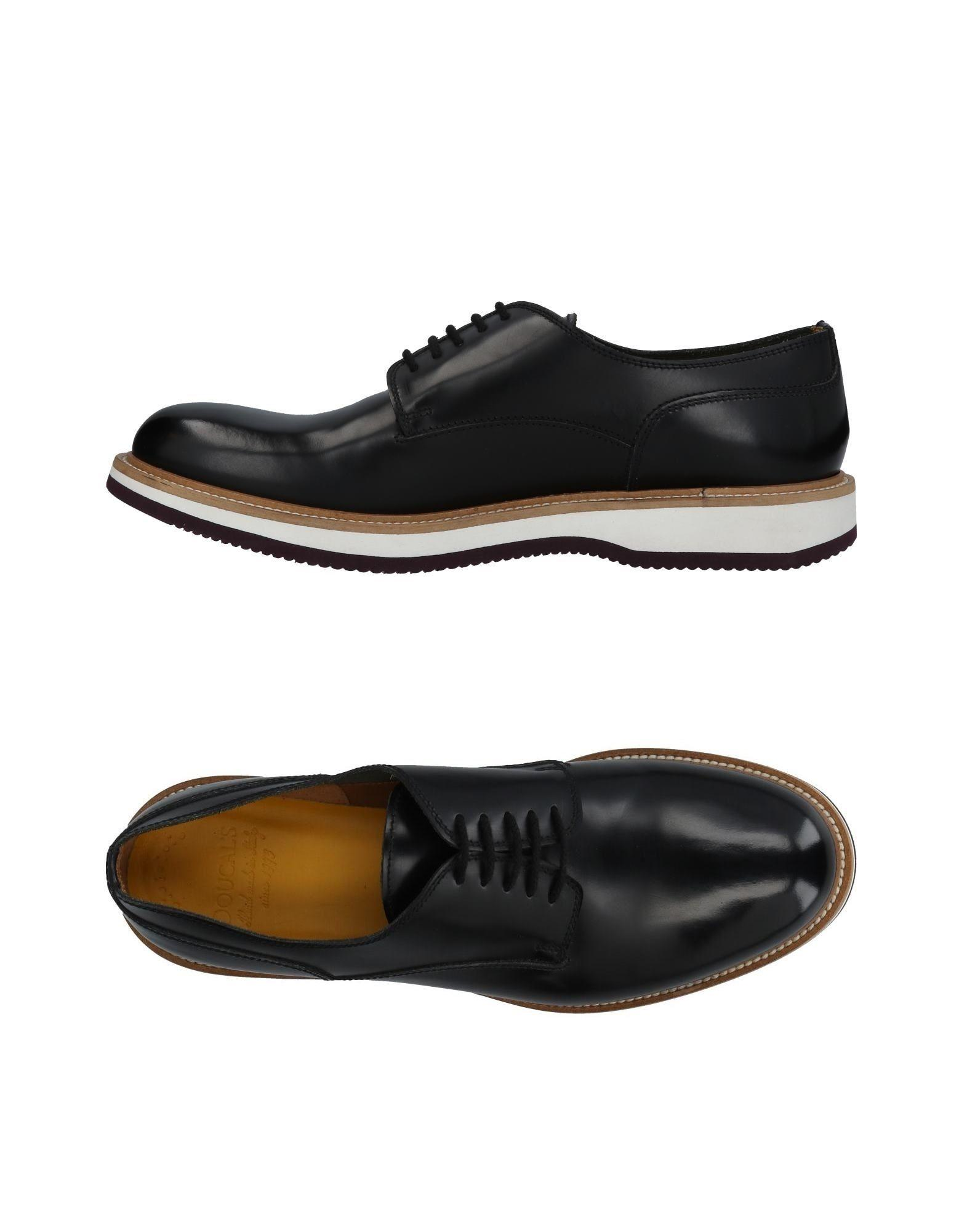 Doucal's Laced Shoes In Black