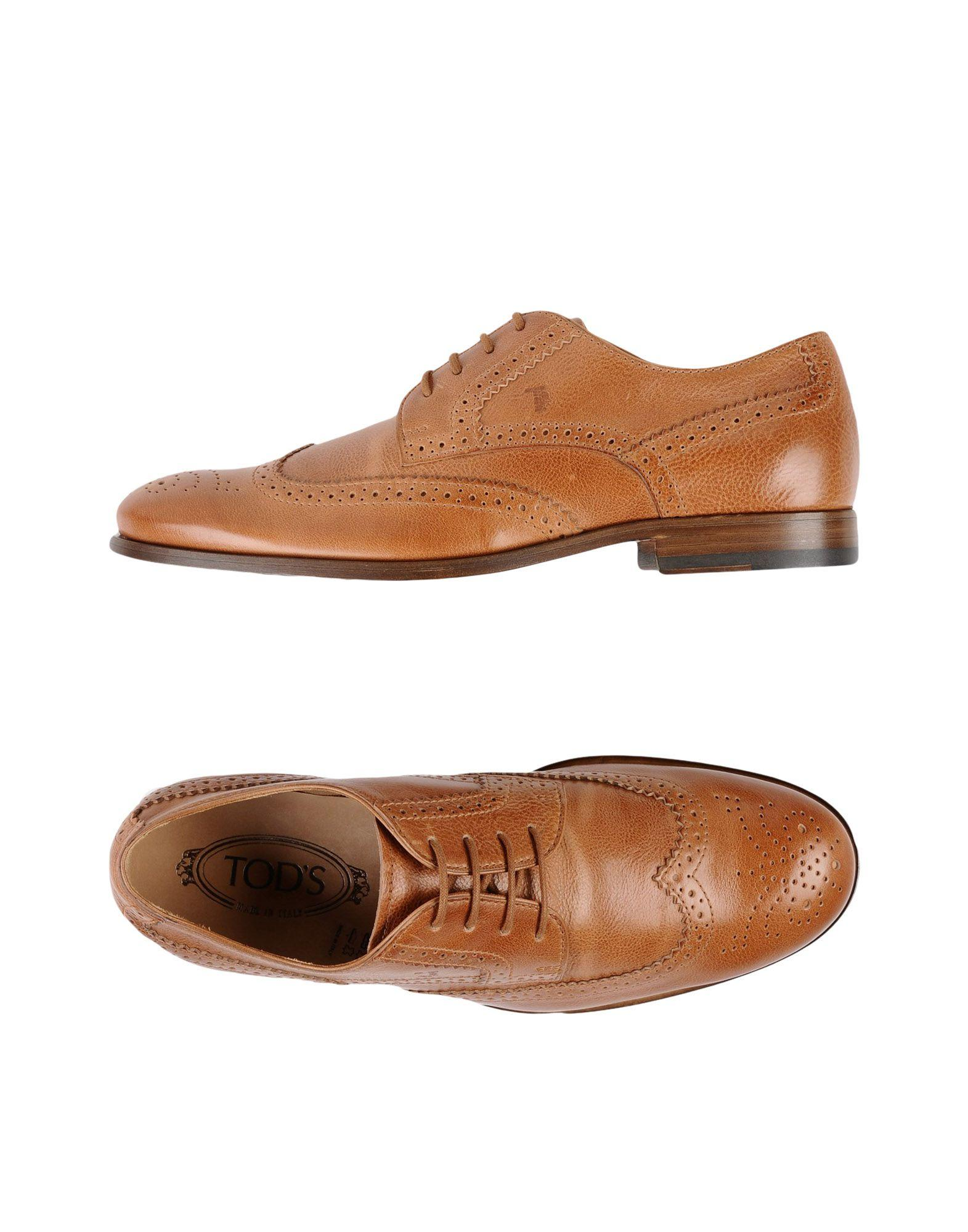 Tod's Lace-up Shoes In Camel