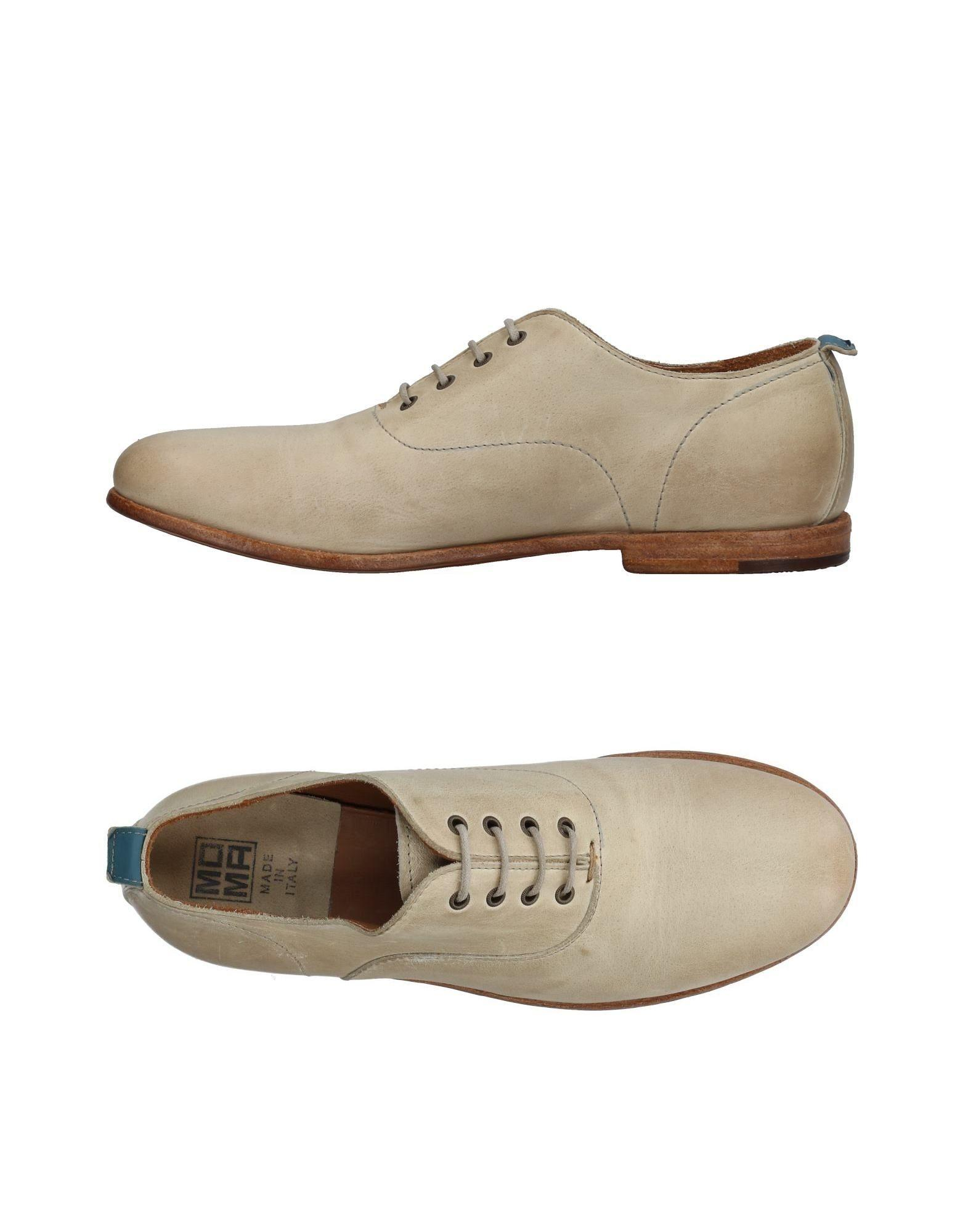 Moma Lace-up Shoes In Beige