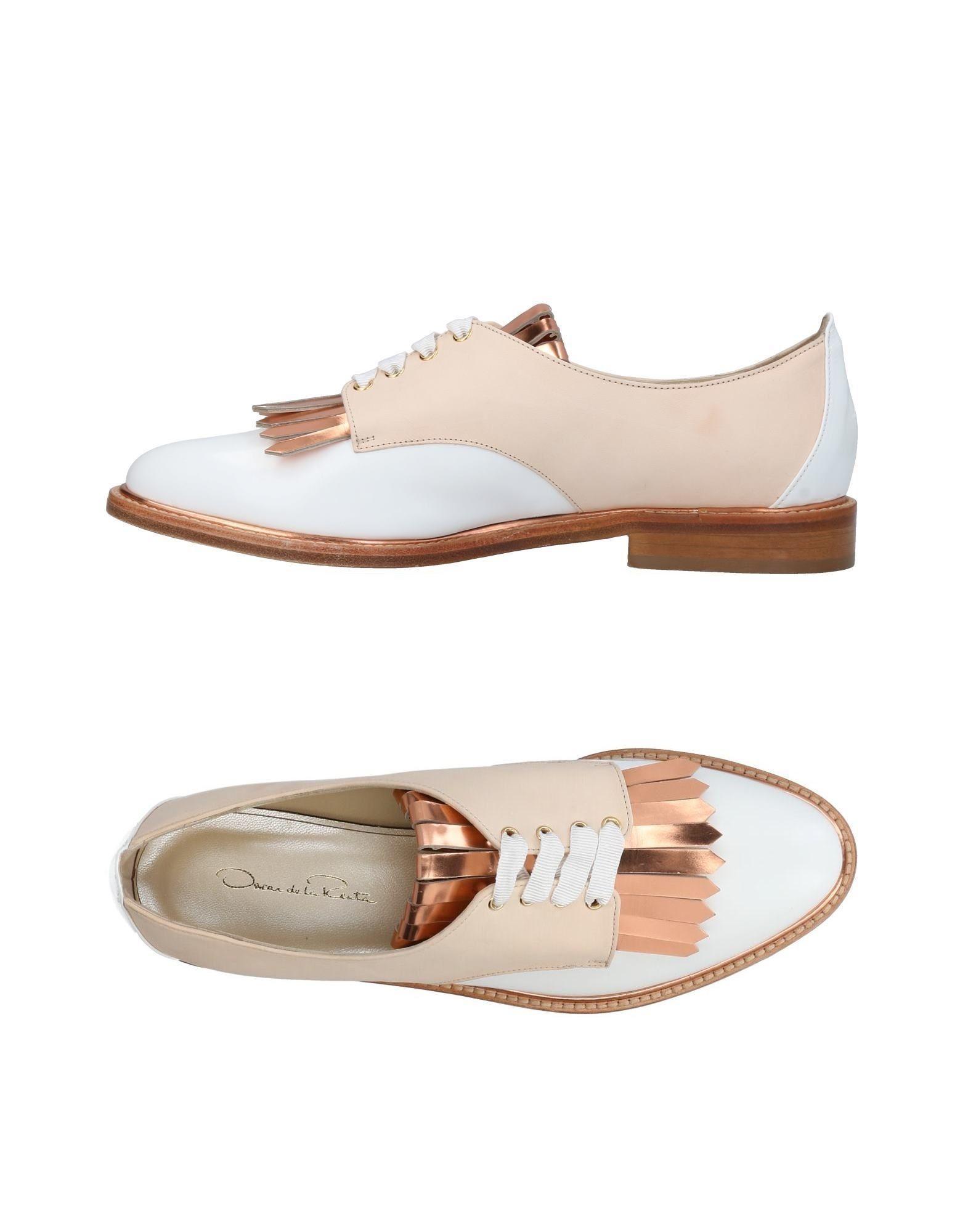 Oscar De La Renta Lace-up Shoes In Beige