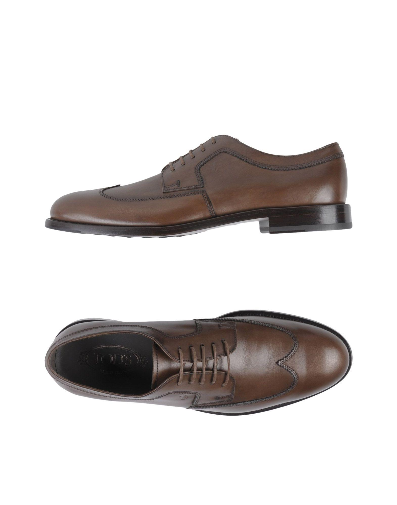 Tod's Laced Shoes In Dark Brown