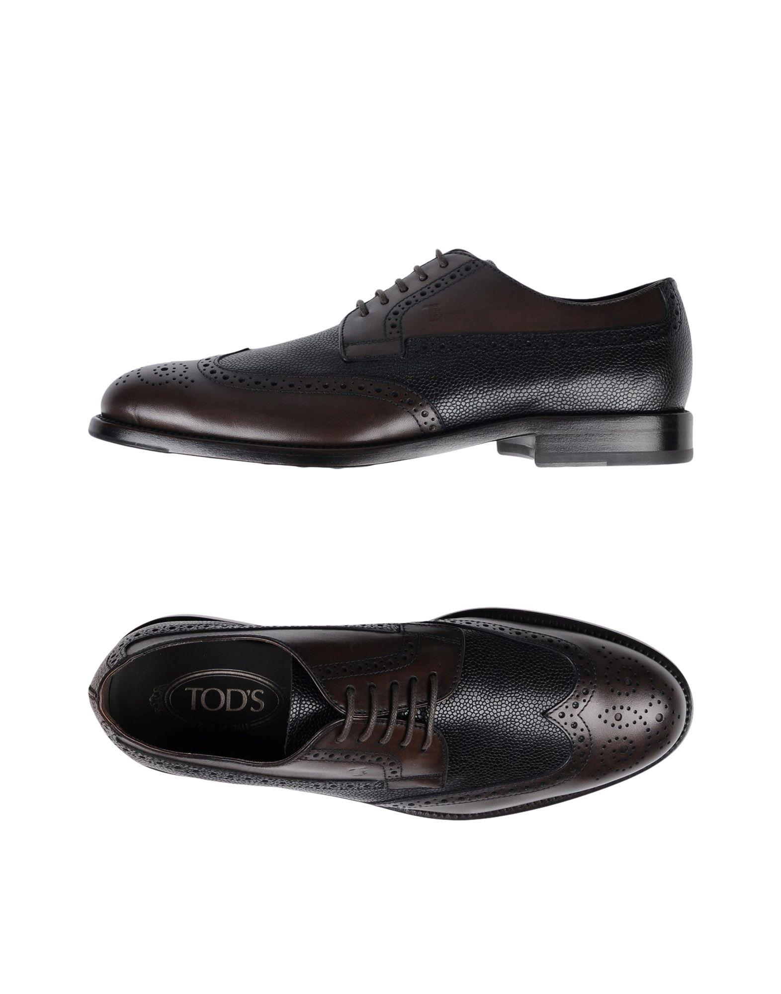 Tod's Lace-up Shoes In Dark Brown