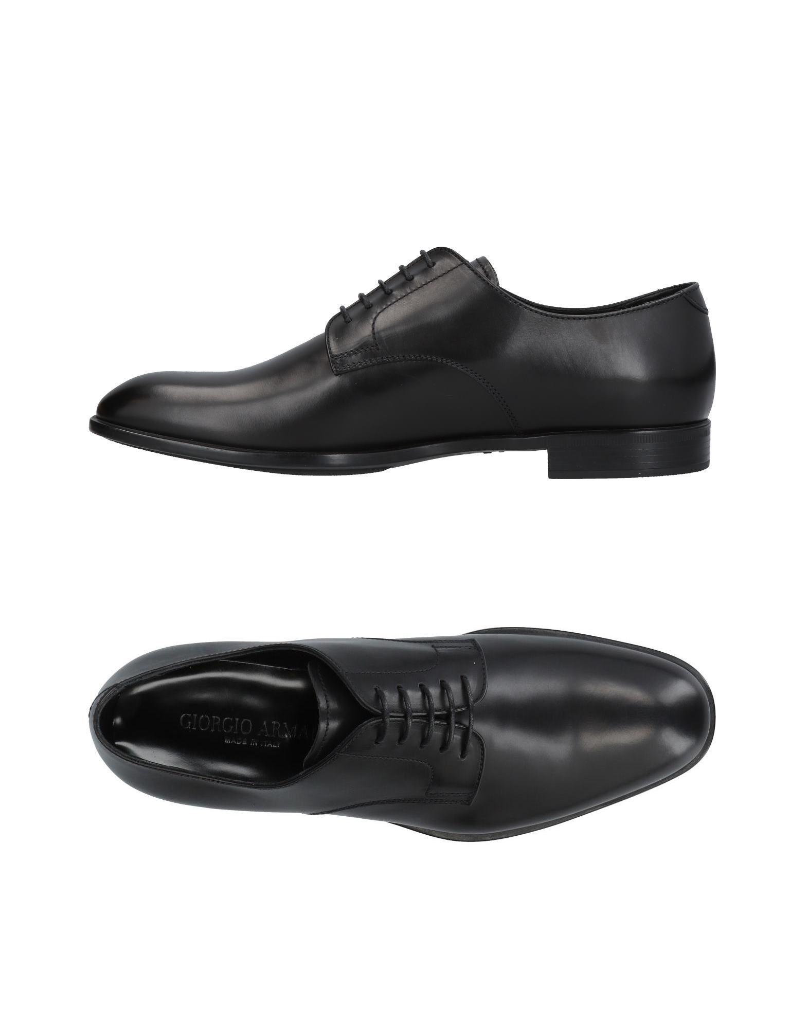 Giorgio Armani Lace-up Shoes In Black