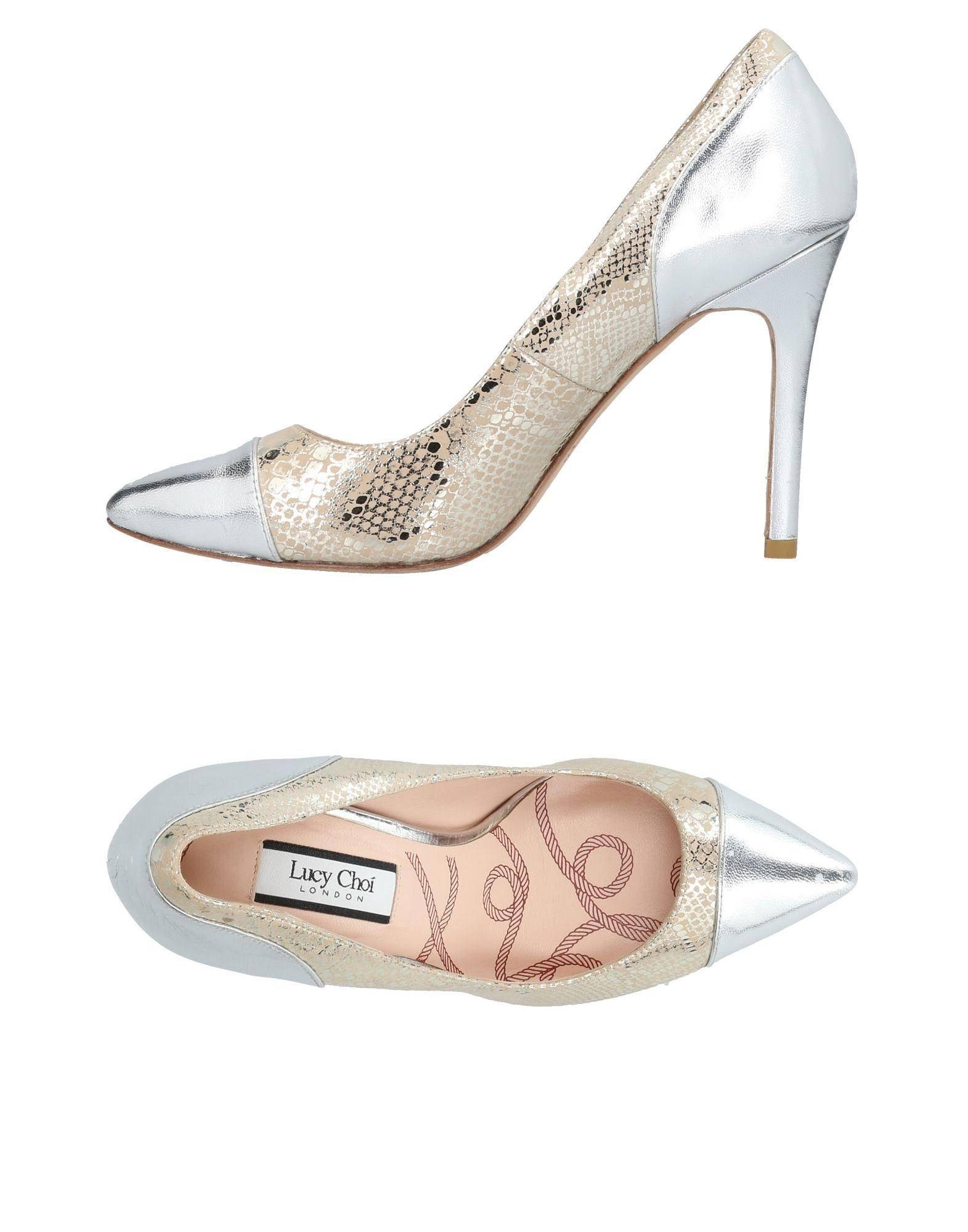 Lucy Choi London Pumps In Platinum
