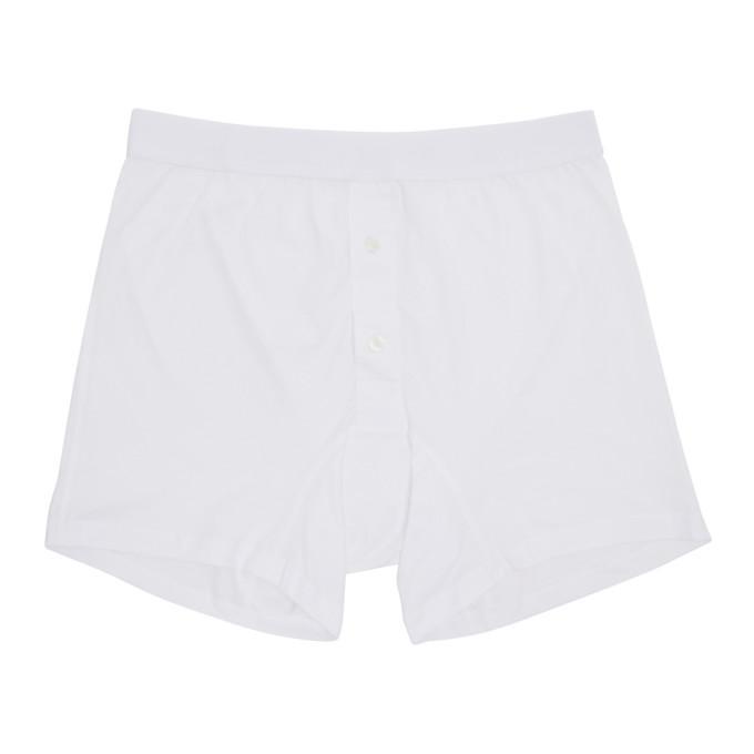 Comme Des GarÇons Shirt Comme Des Garcons Shirt White Plain Button Down Boxers In D.white