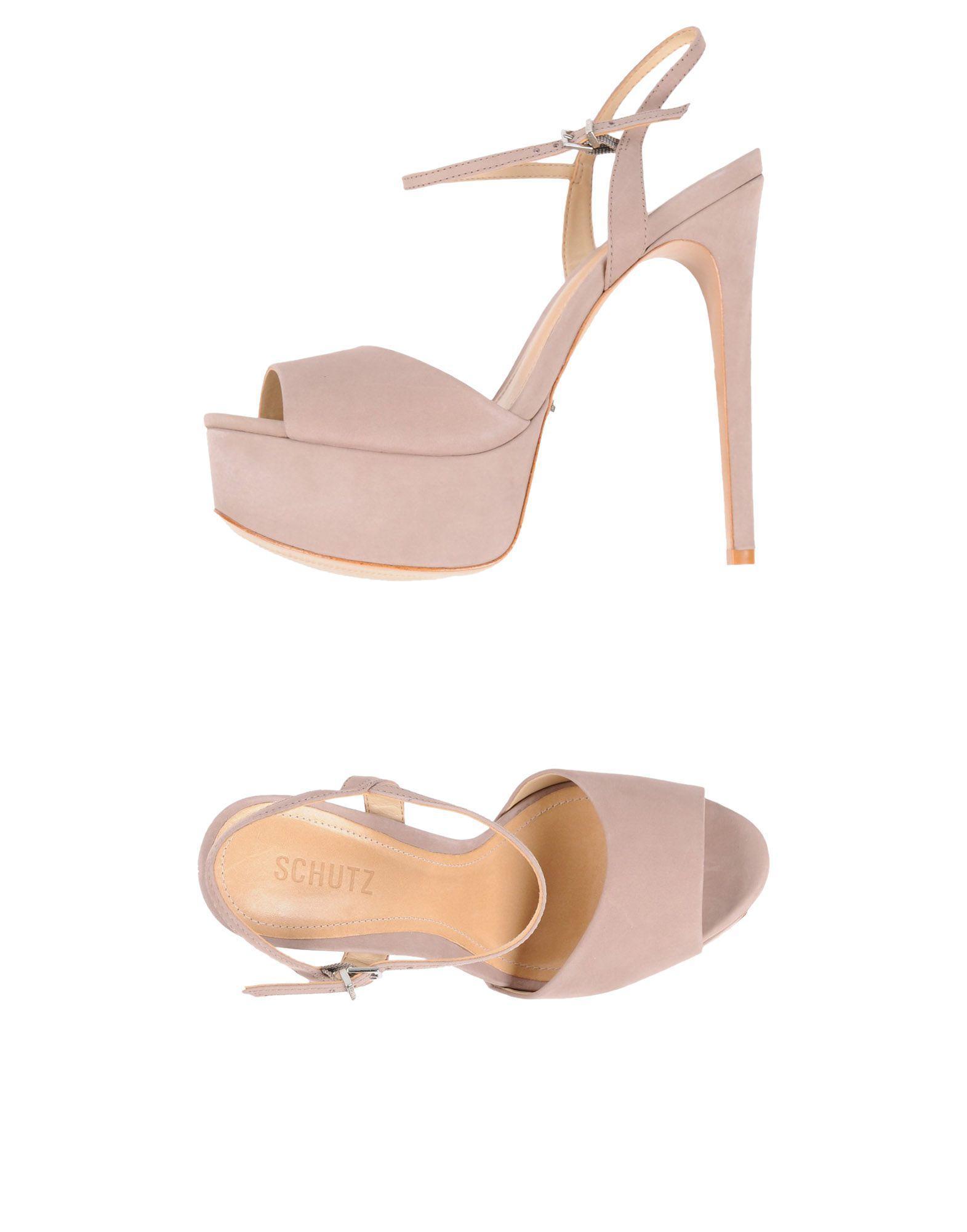 Schutz Sandals In Light Brown