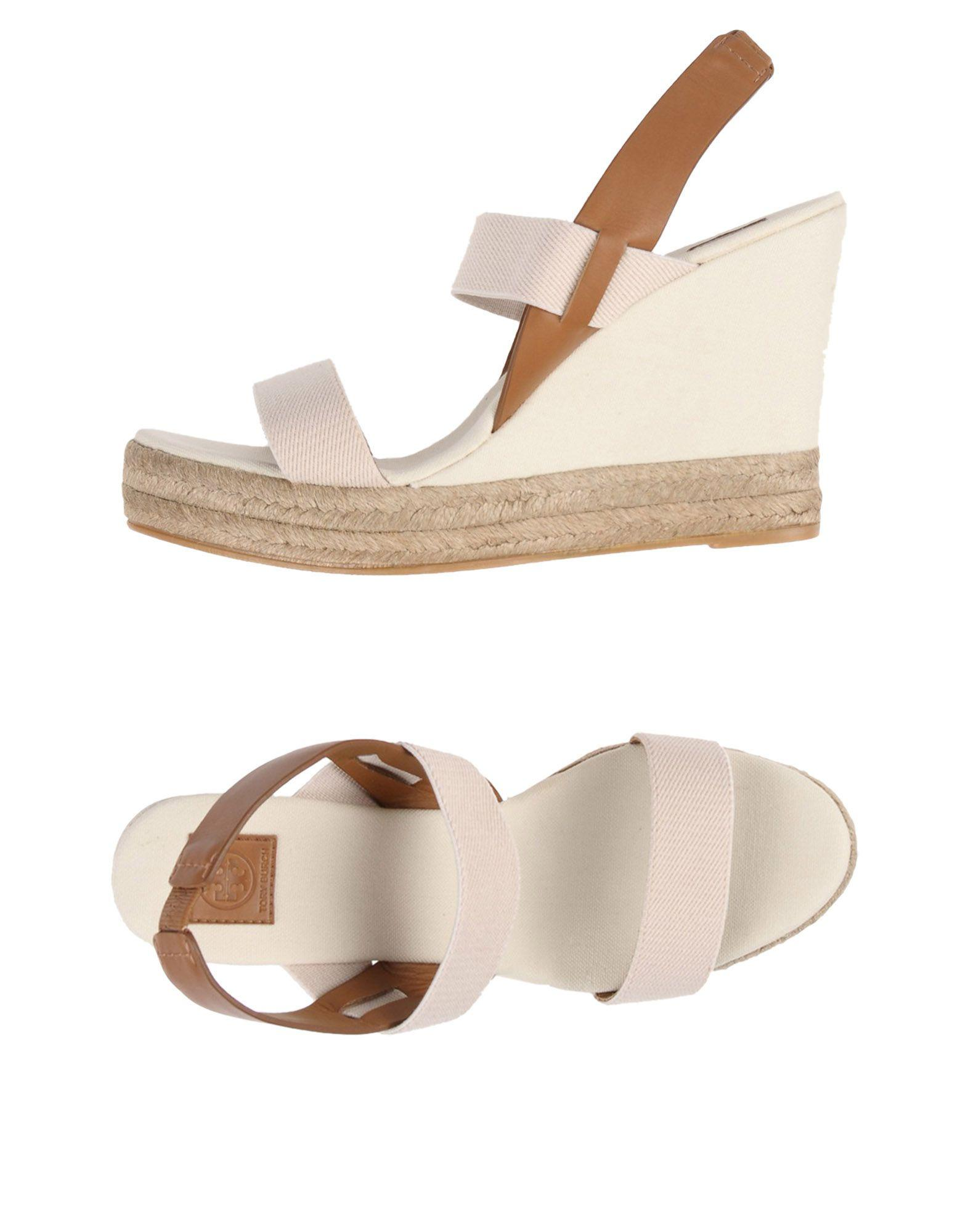 Tory Burch Sandals In Ivory