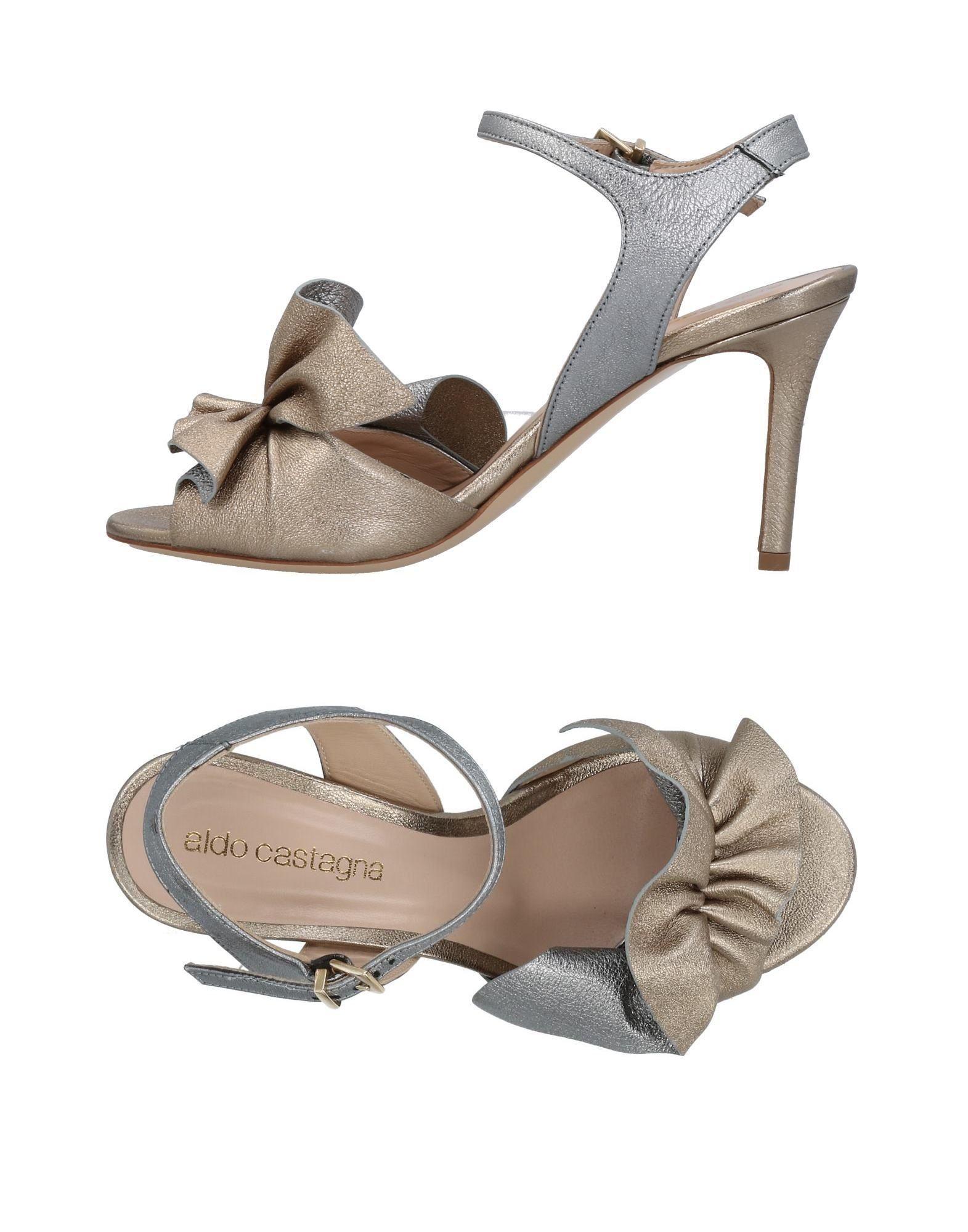 Aldo Castagna Sandals In Platinum