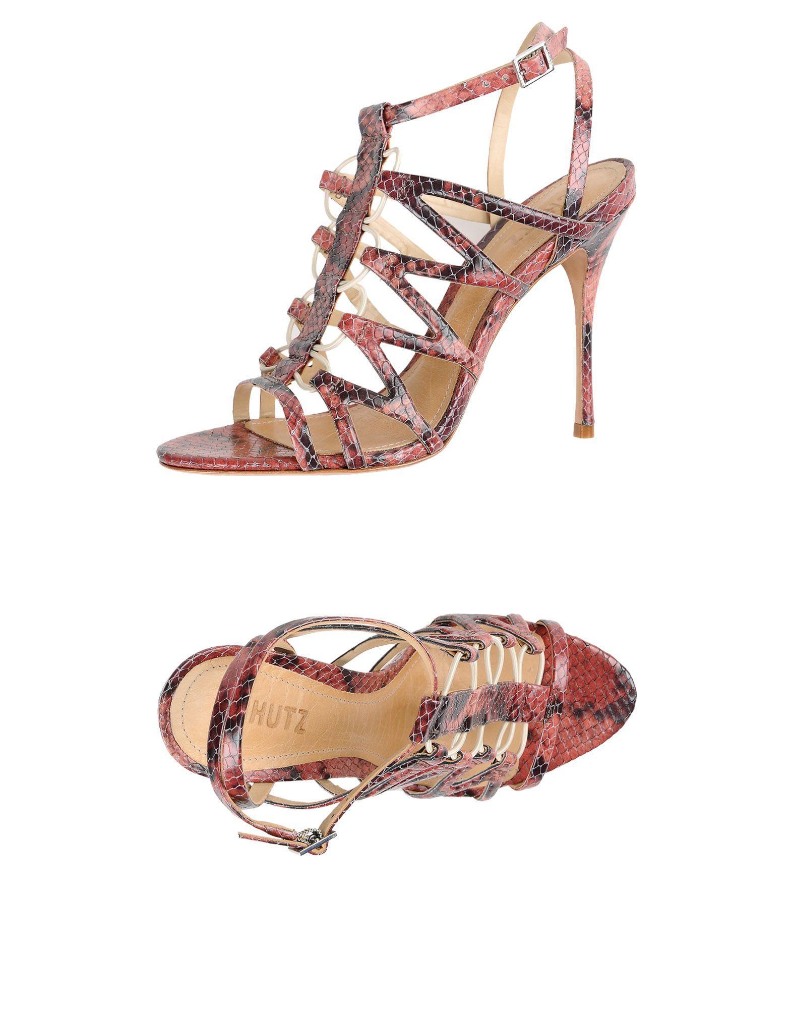 Schutz Sandals In Brick Red