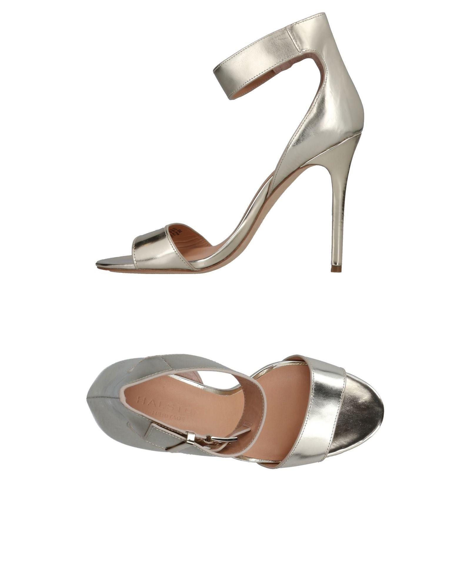 Halston Heritage Sandals In Platinum