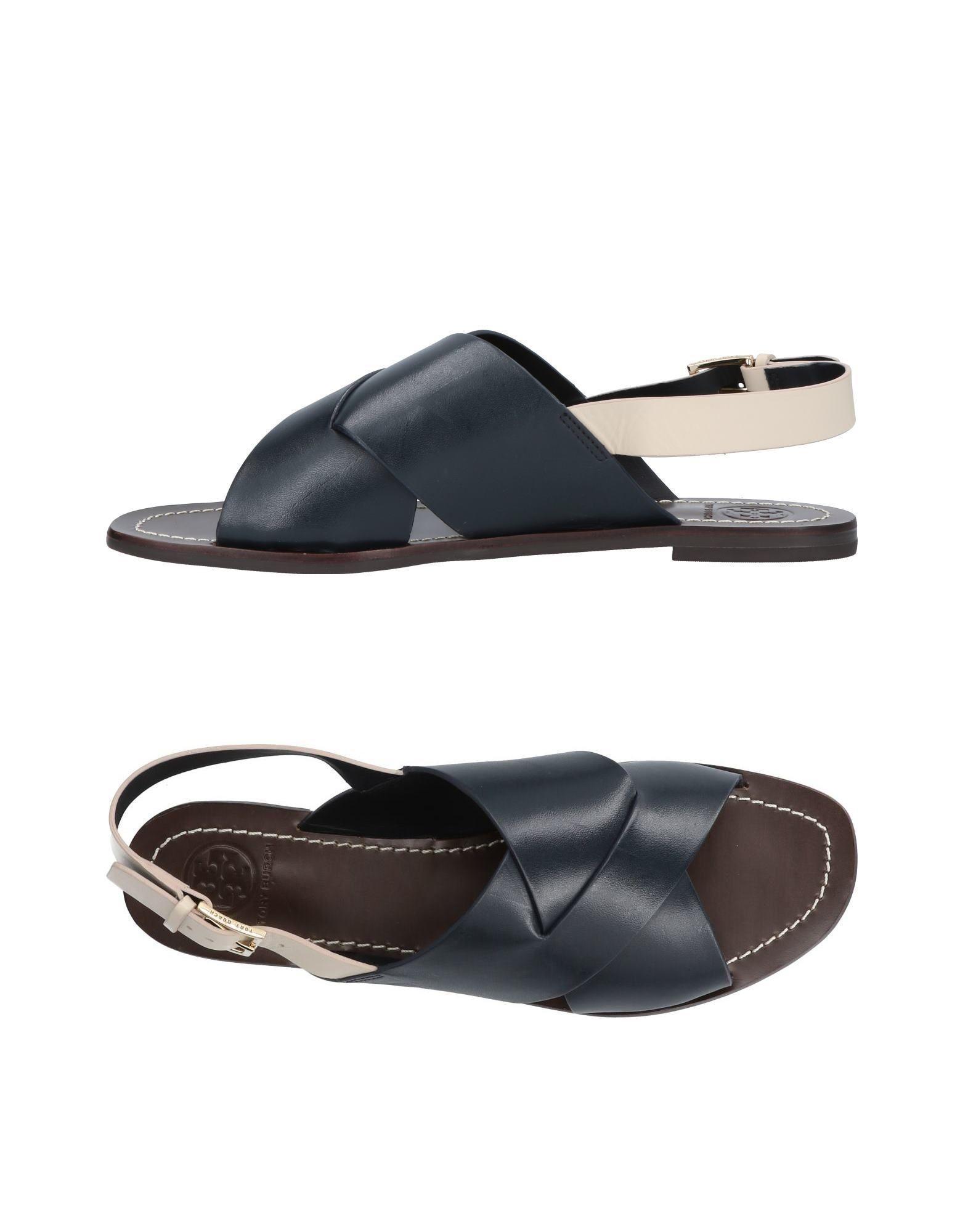 Tory Burch Sandals In Dark Blue