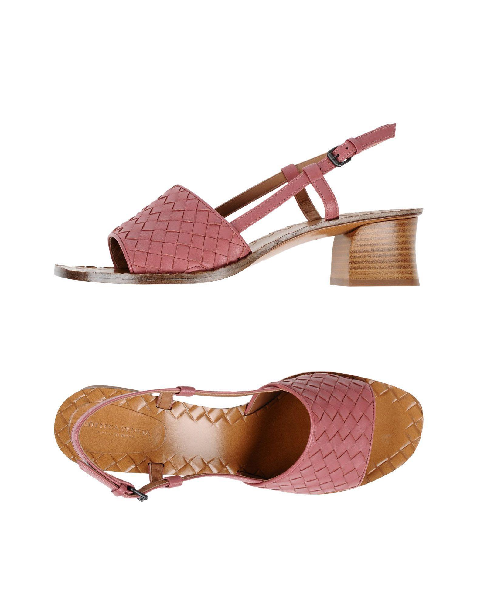 Bottega Veneta Sandals In Pastel Pink