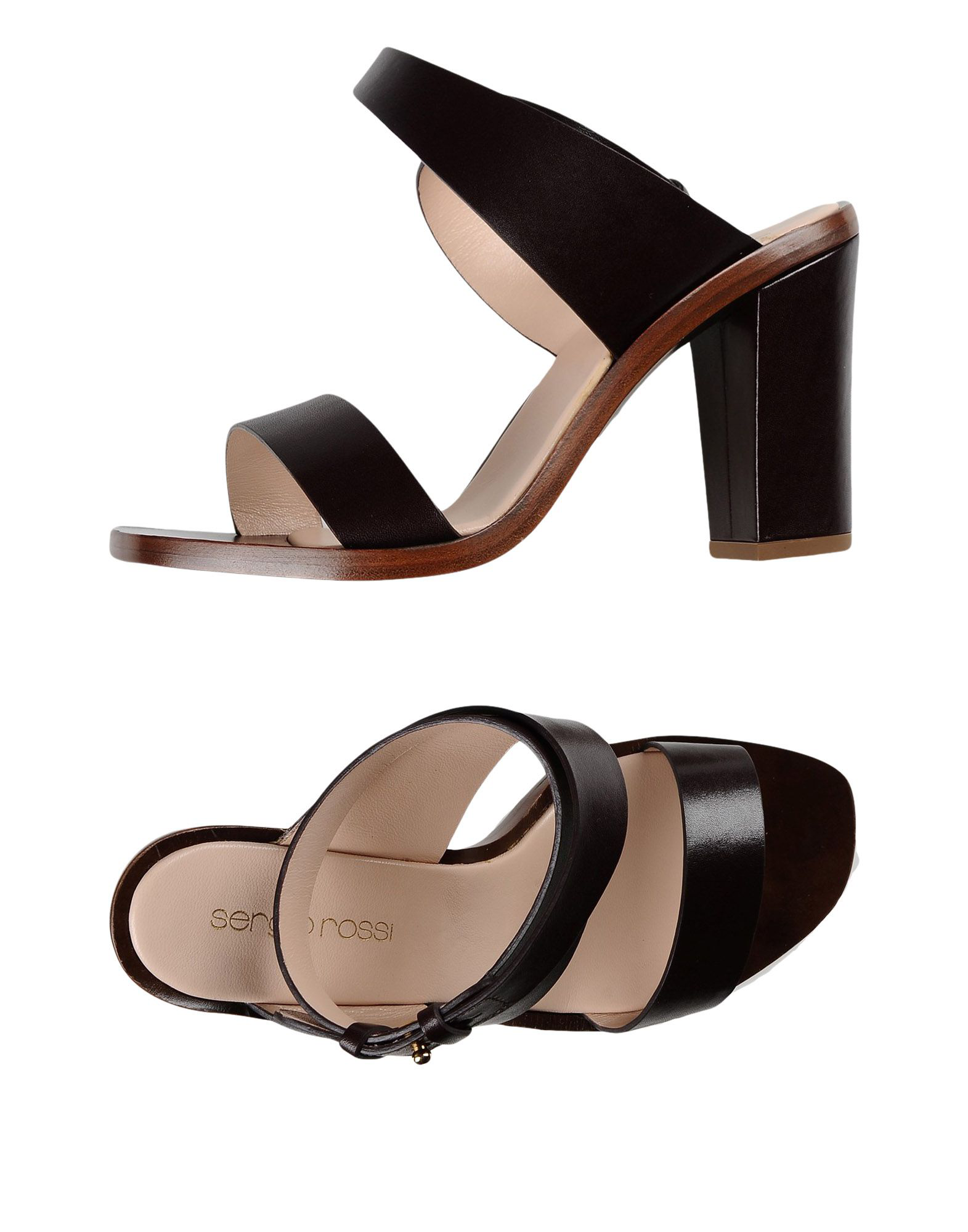 Sergio Rossi Sandals In Dark Brown