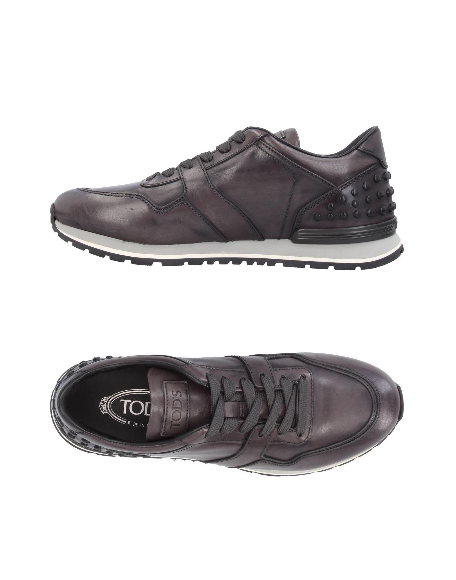 Tod's Sneakers In Steel Grey