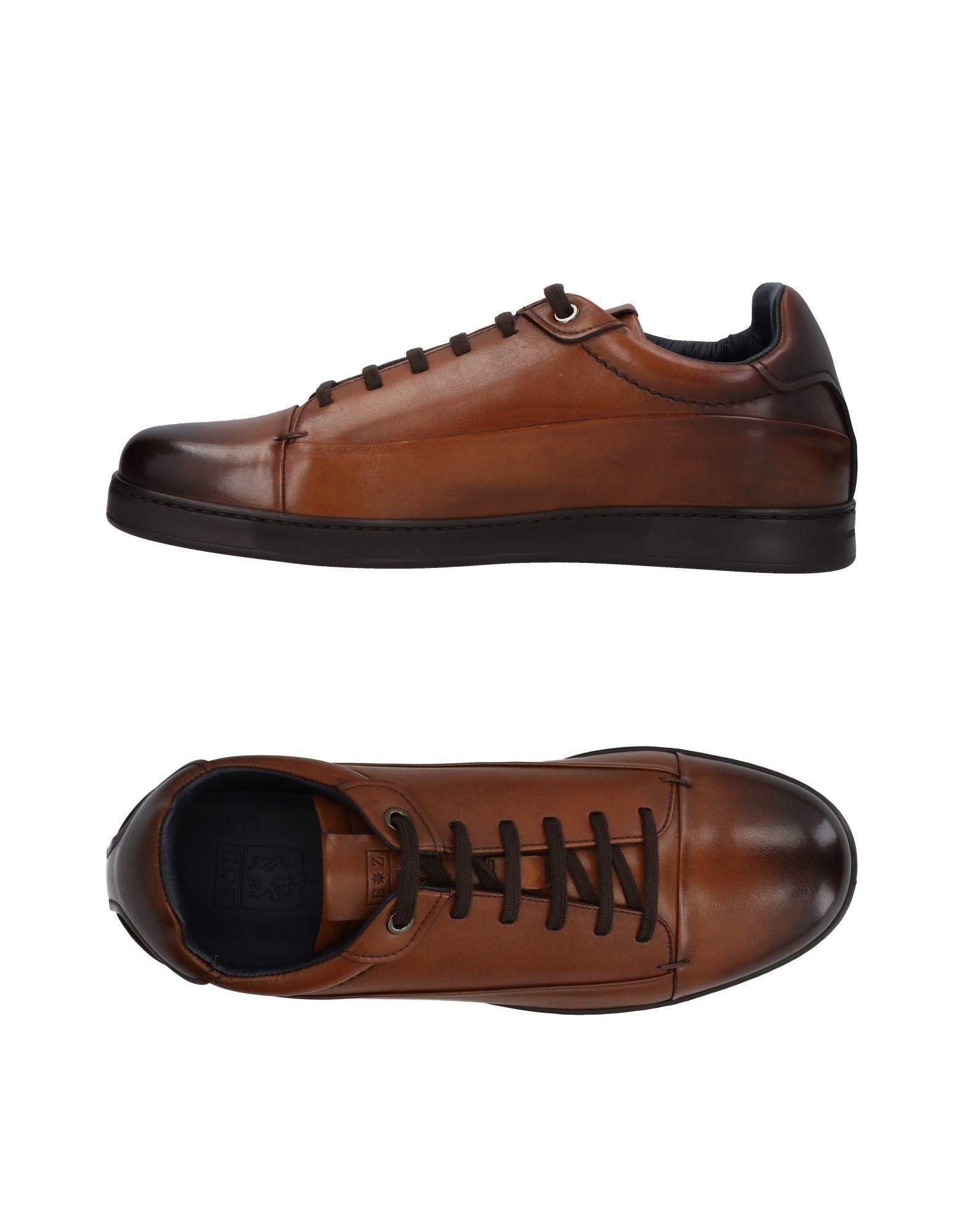 Ermenegildo Zegna Sneakers In Brown