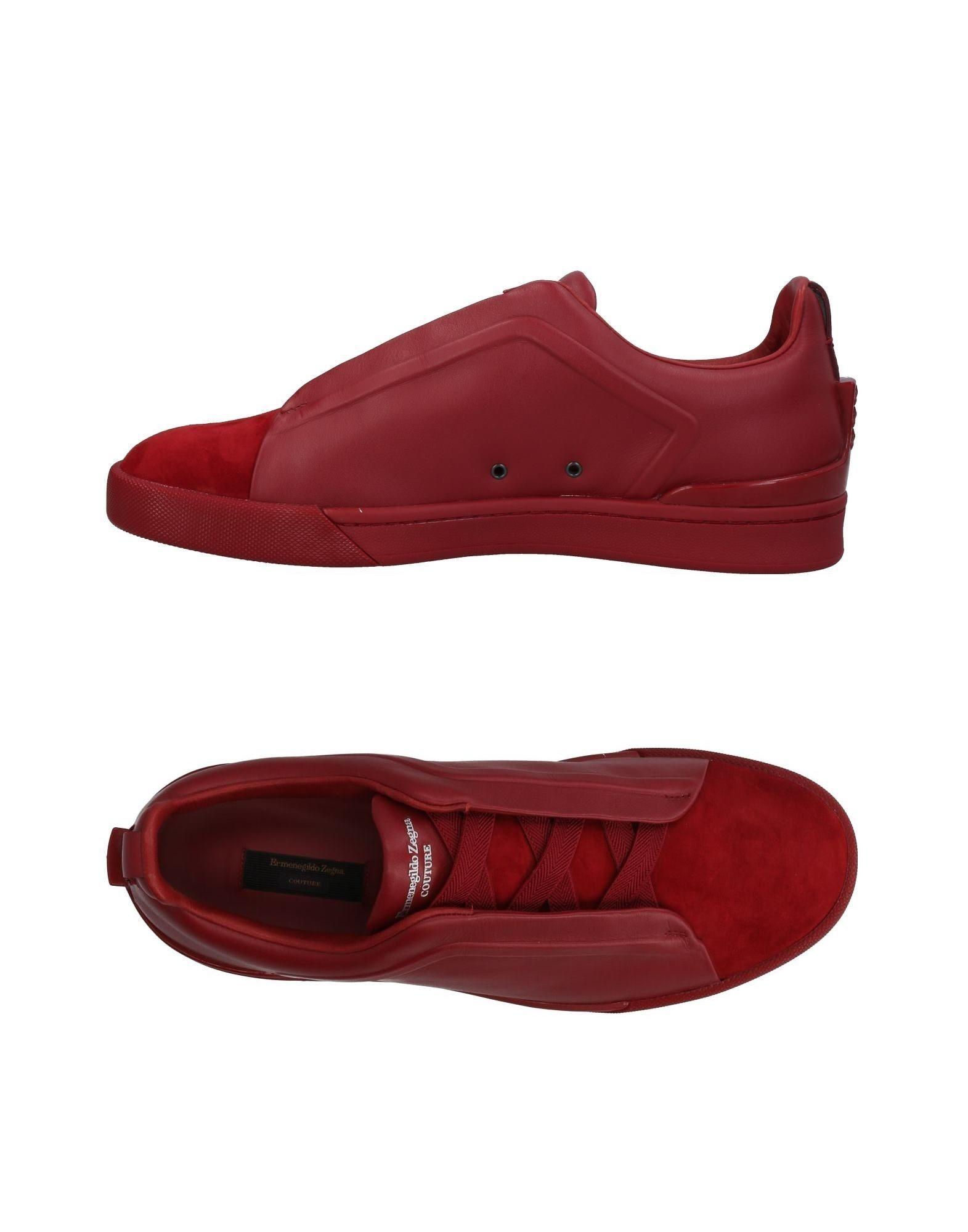 Ermenegildo Zegna Sneakers In Red