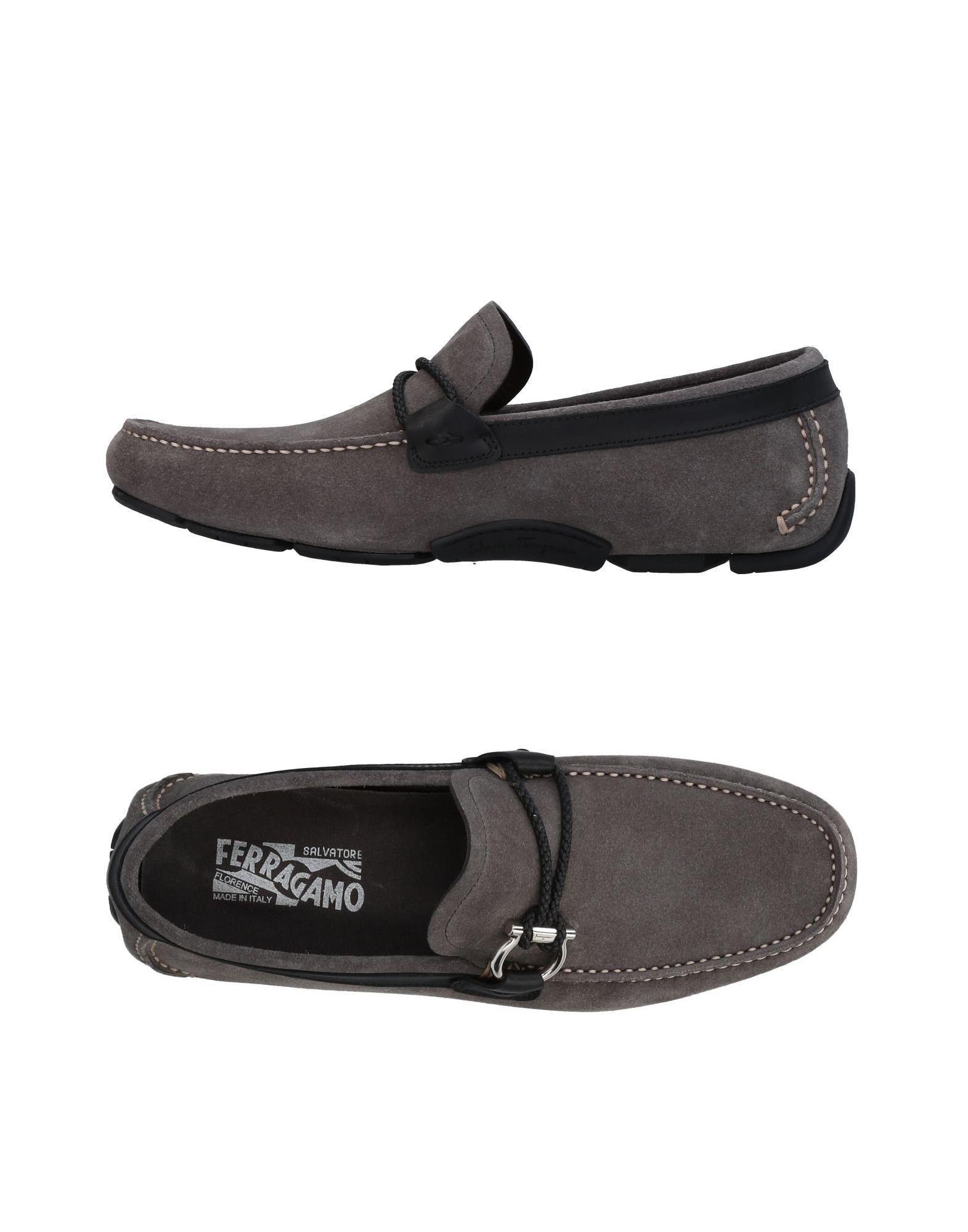 Salvatore Ferragamo Loafers In Grey