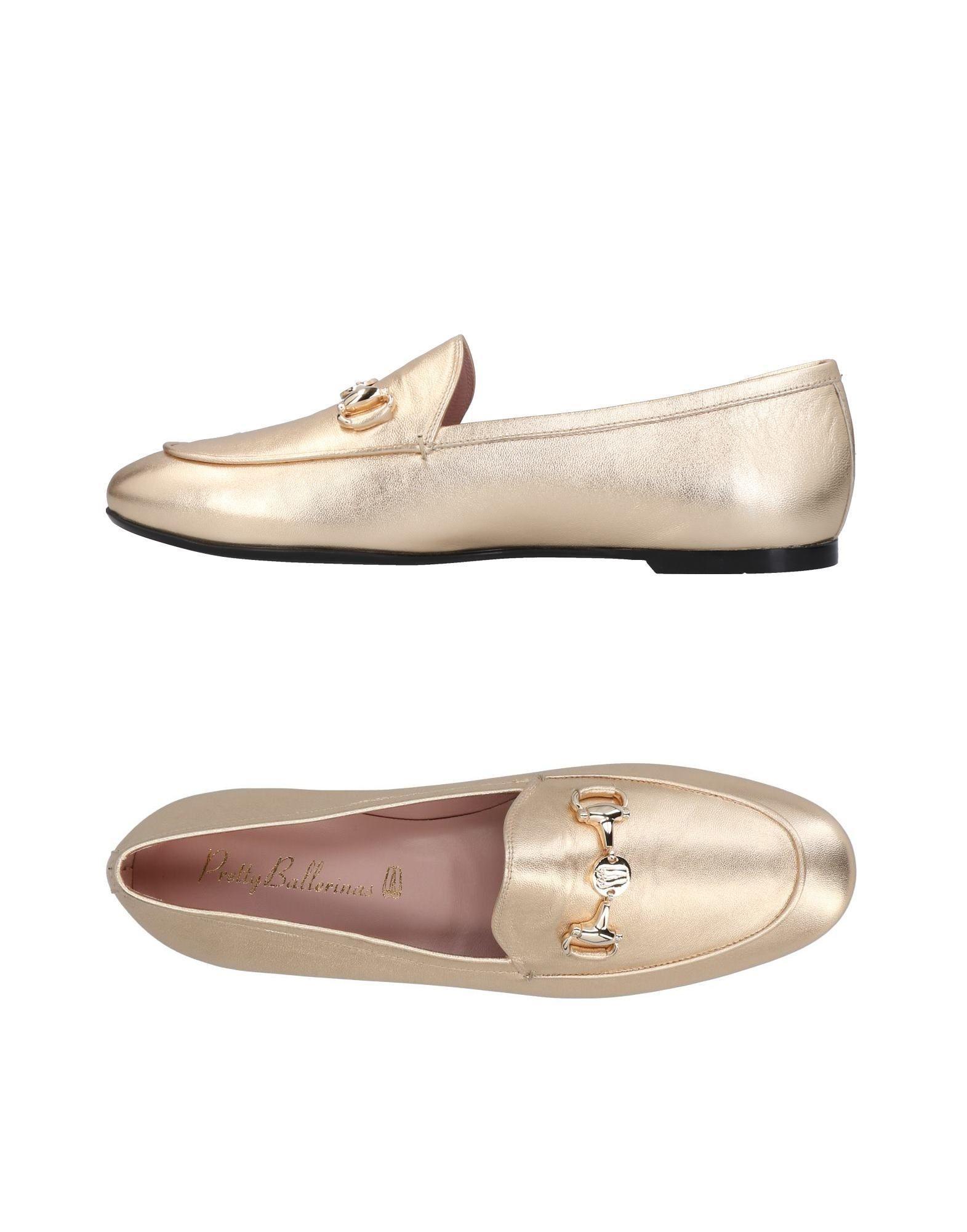 Pretty Ballerinas Loafers In Platinum