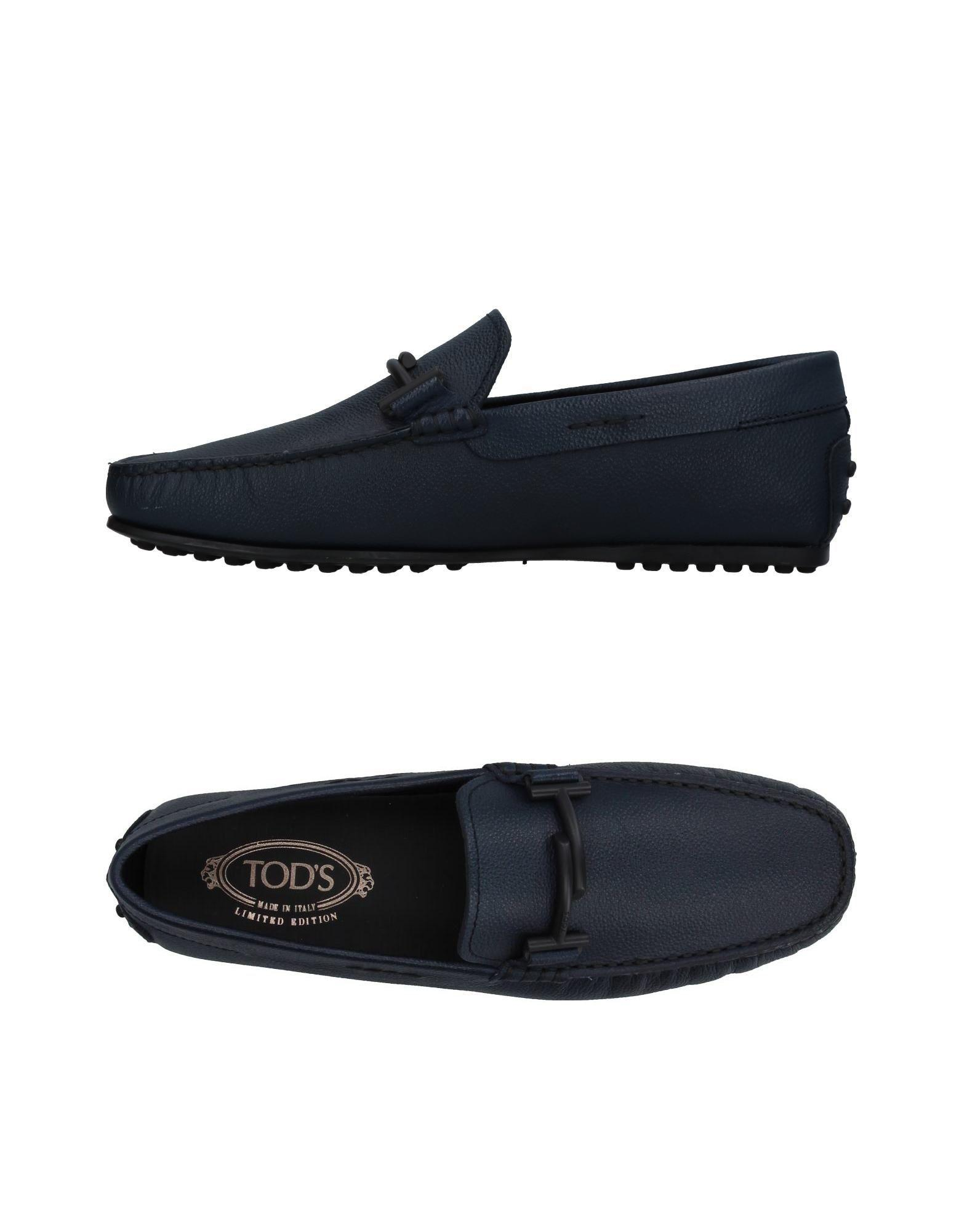 Tod's Loafers In Dark Blue