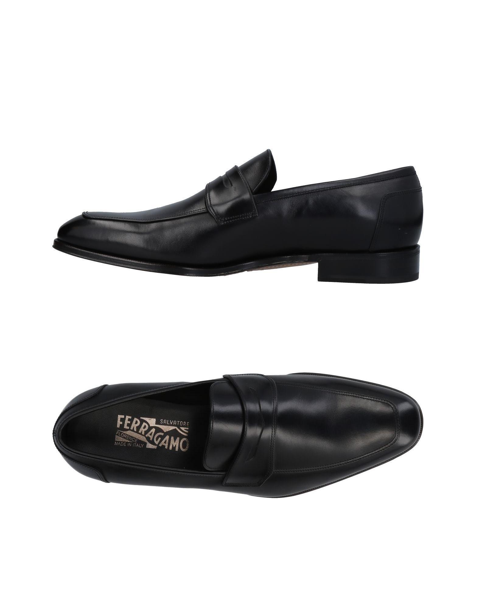 Salvatore Ferragamo Loafers In Black