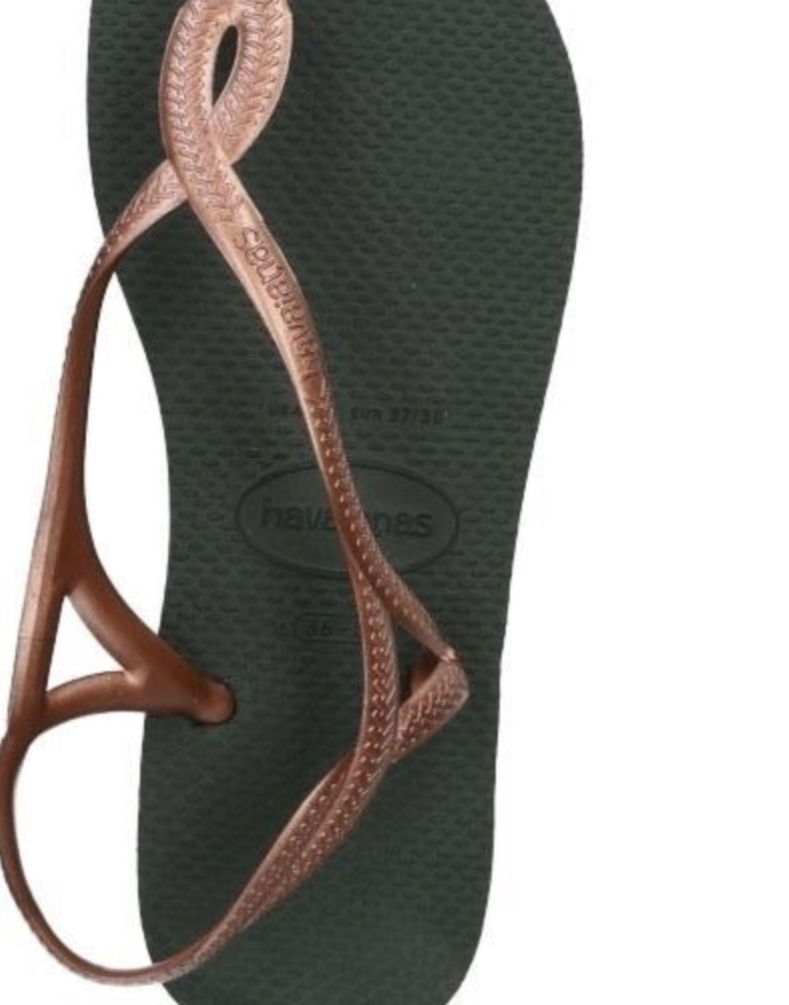 Havaianas Toe Strap Sandals In Light Brown