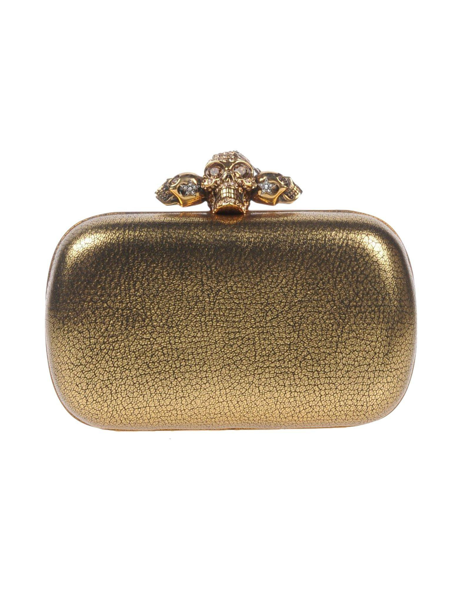 Alexander Mcqueen Handbags In Gold