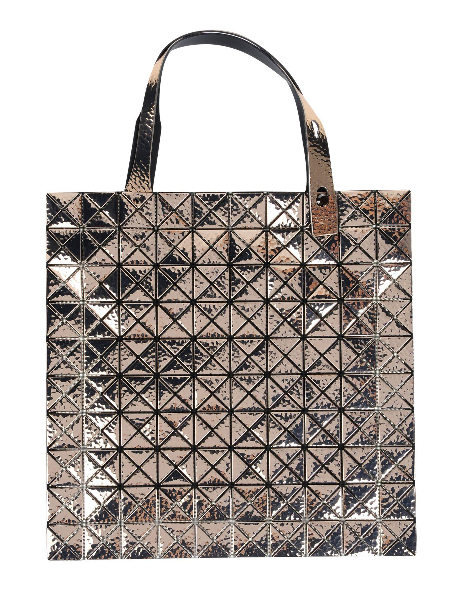 Bao Bao Issey Miyake Handbags In Gold