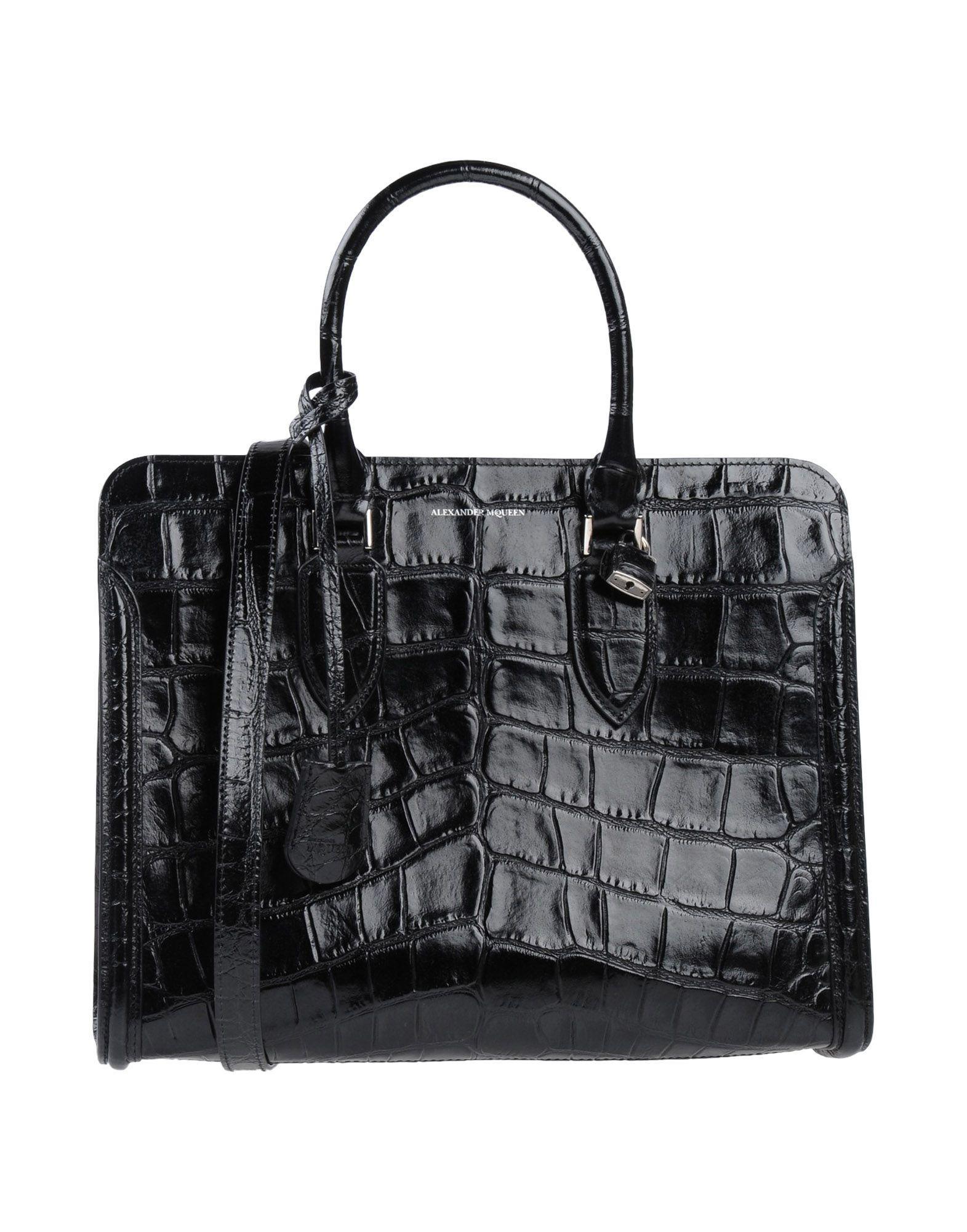 Alexander Mcqueen Handbags In Black