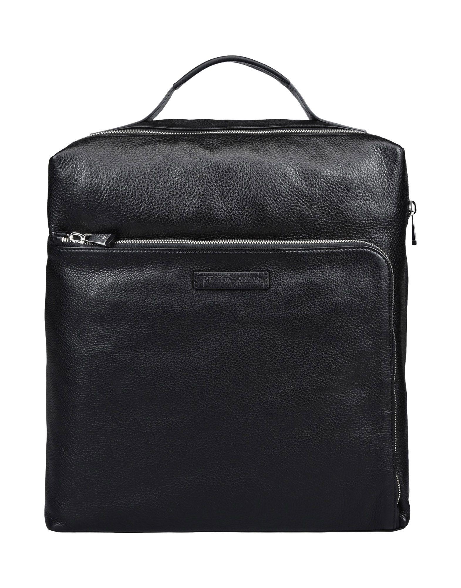 Emporio Armani Backpack & Fanny Pack In Black