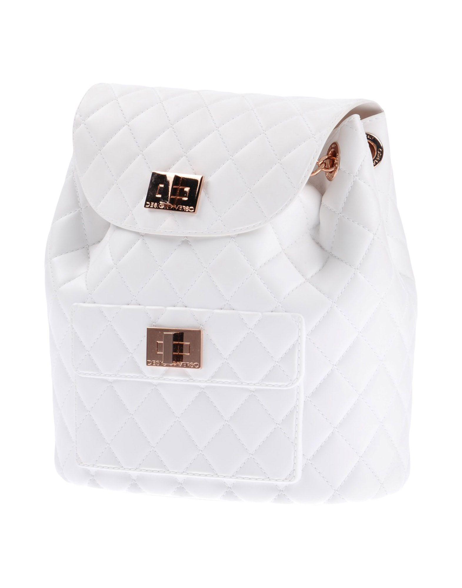 Designinverso Backpack & Fanny Pack In White