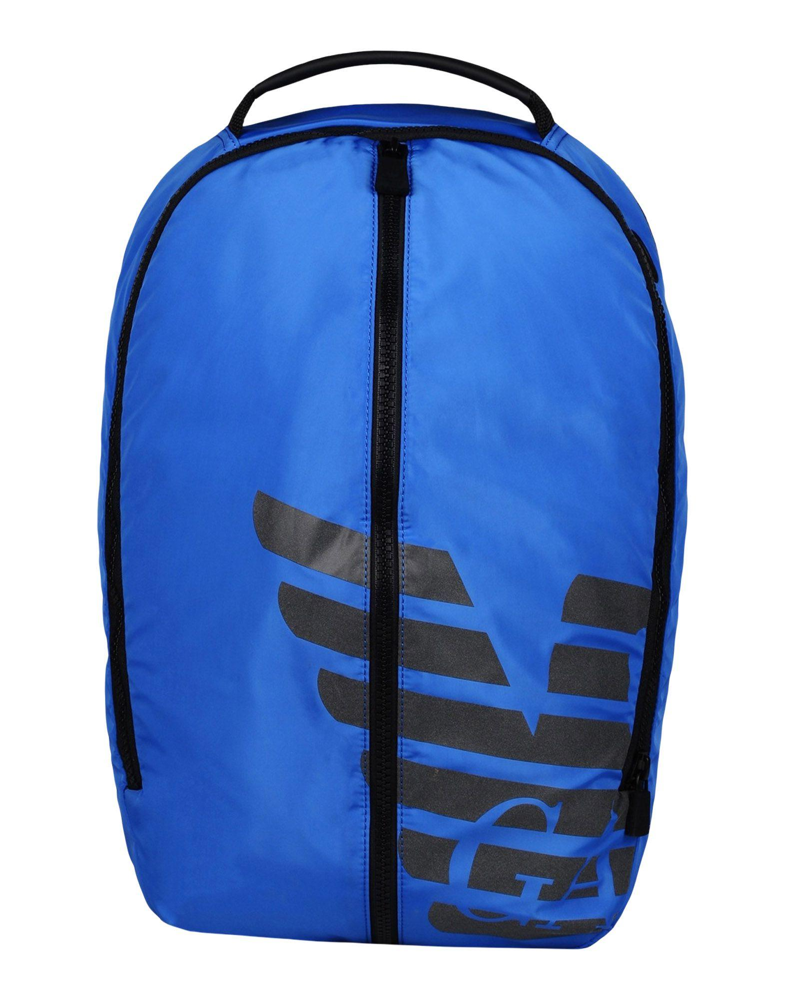 Emporio Armani Backpacks & Fanny Packs In Bright Blue