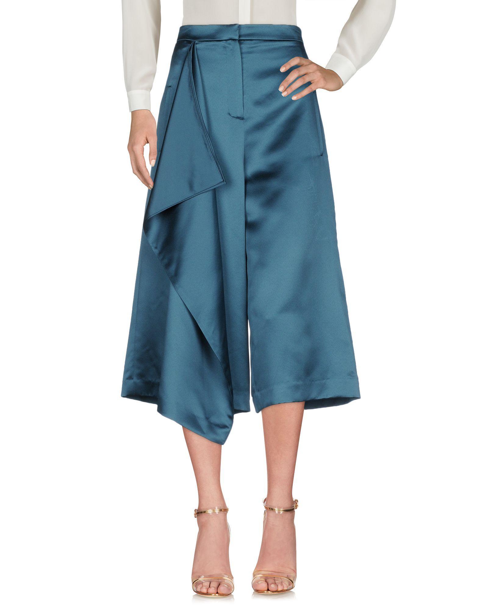 Tibi Cropped Pants & Culottes In Deep Jade