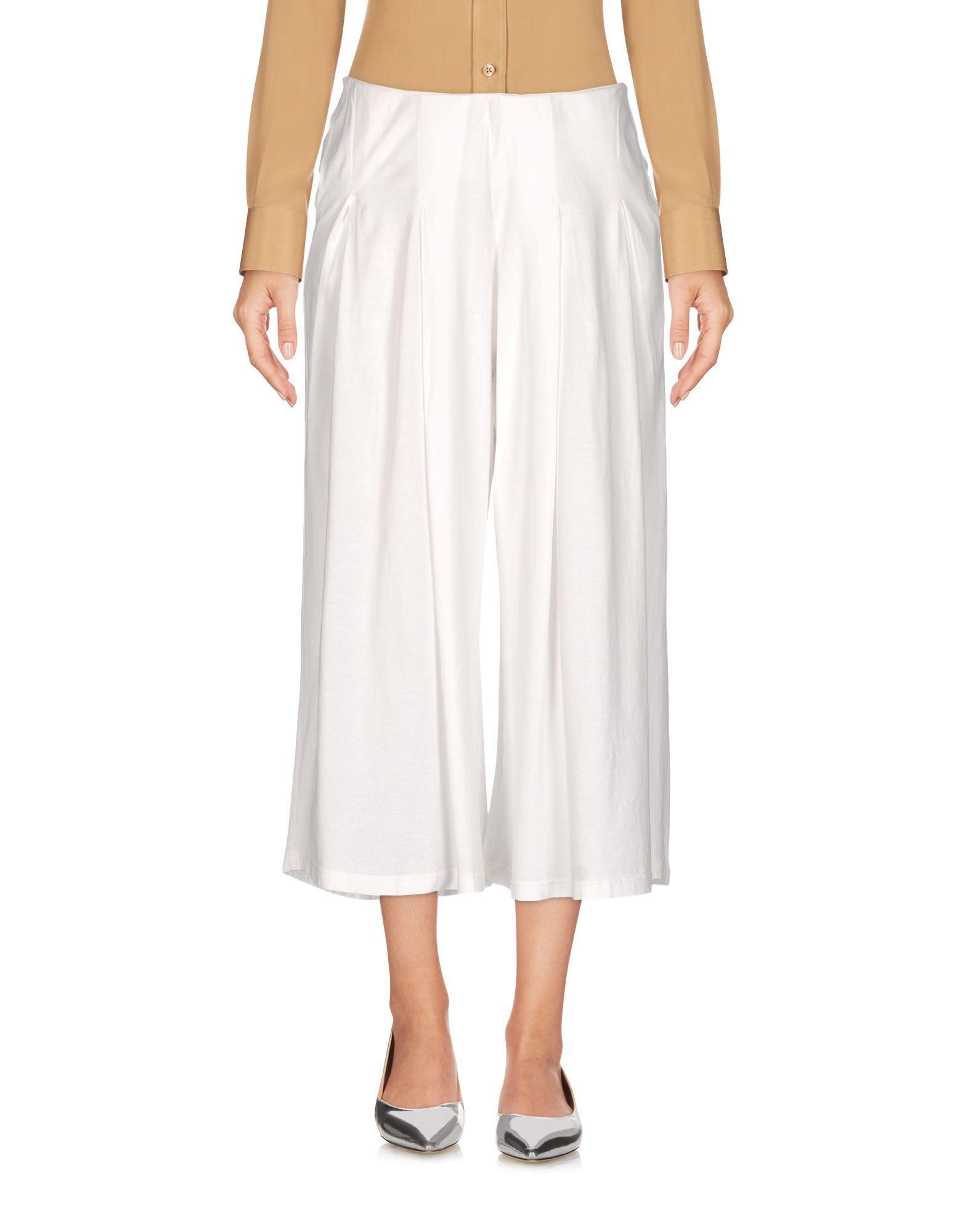 Ma'ry'ya Cropped Pants & Culottes In White