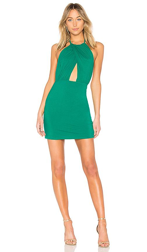 By The Way. Rosie Halter Mini Dress In Green. In Teal