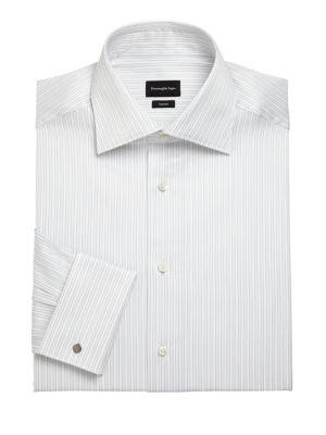 Ermenegildo Zegna Regular-fit Striped Dress Shirt In Multi